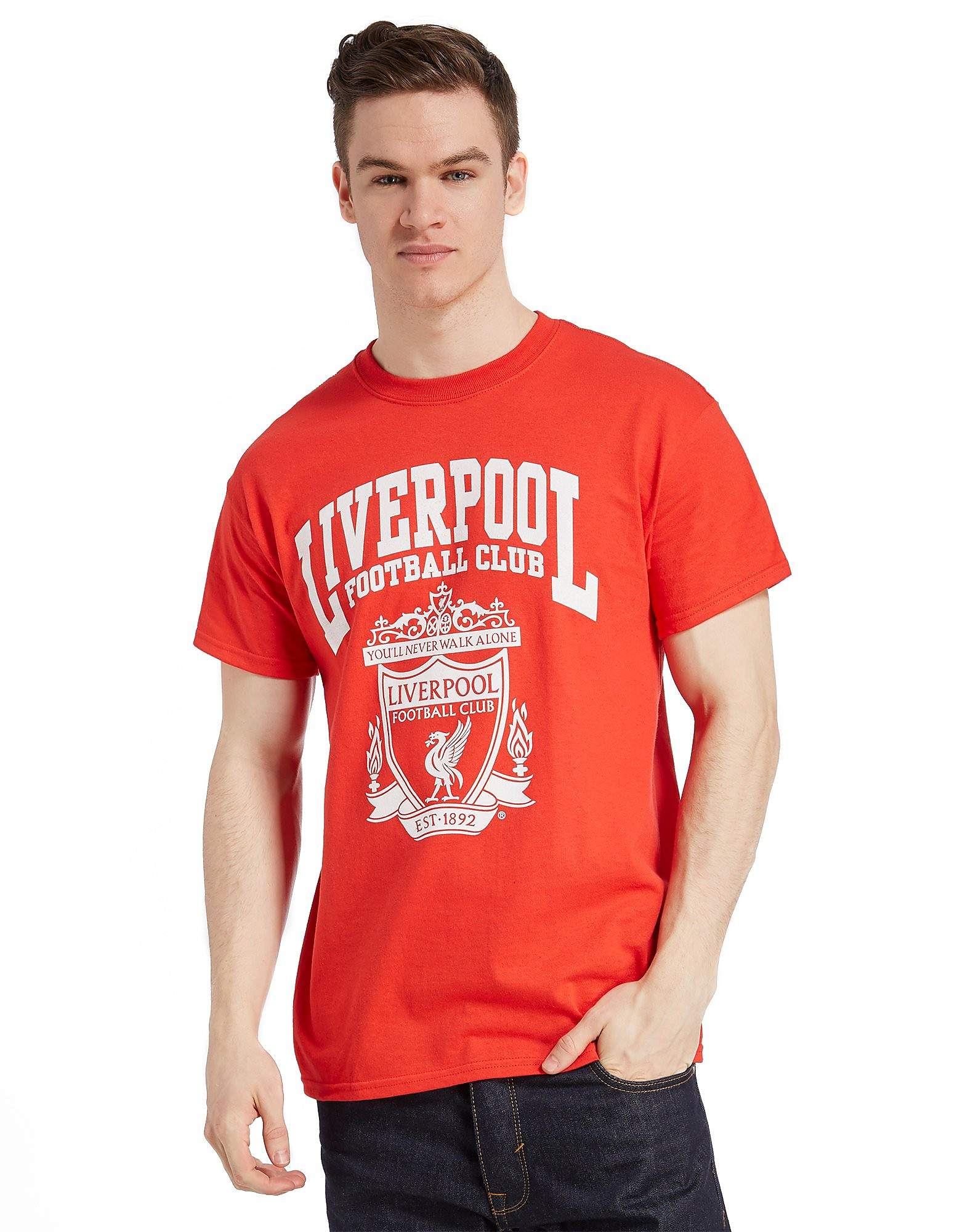 Official Team Liverpool FC Crest T-Shirt