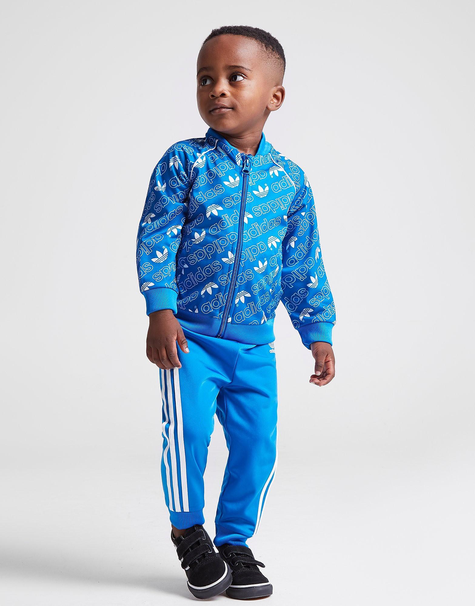 adidas Originals Mono All Over Print Superstar Tracksuit Baby's - Blauw - Kind