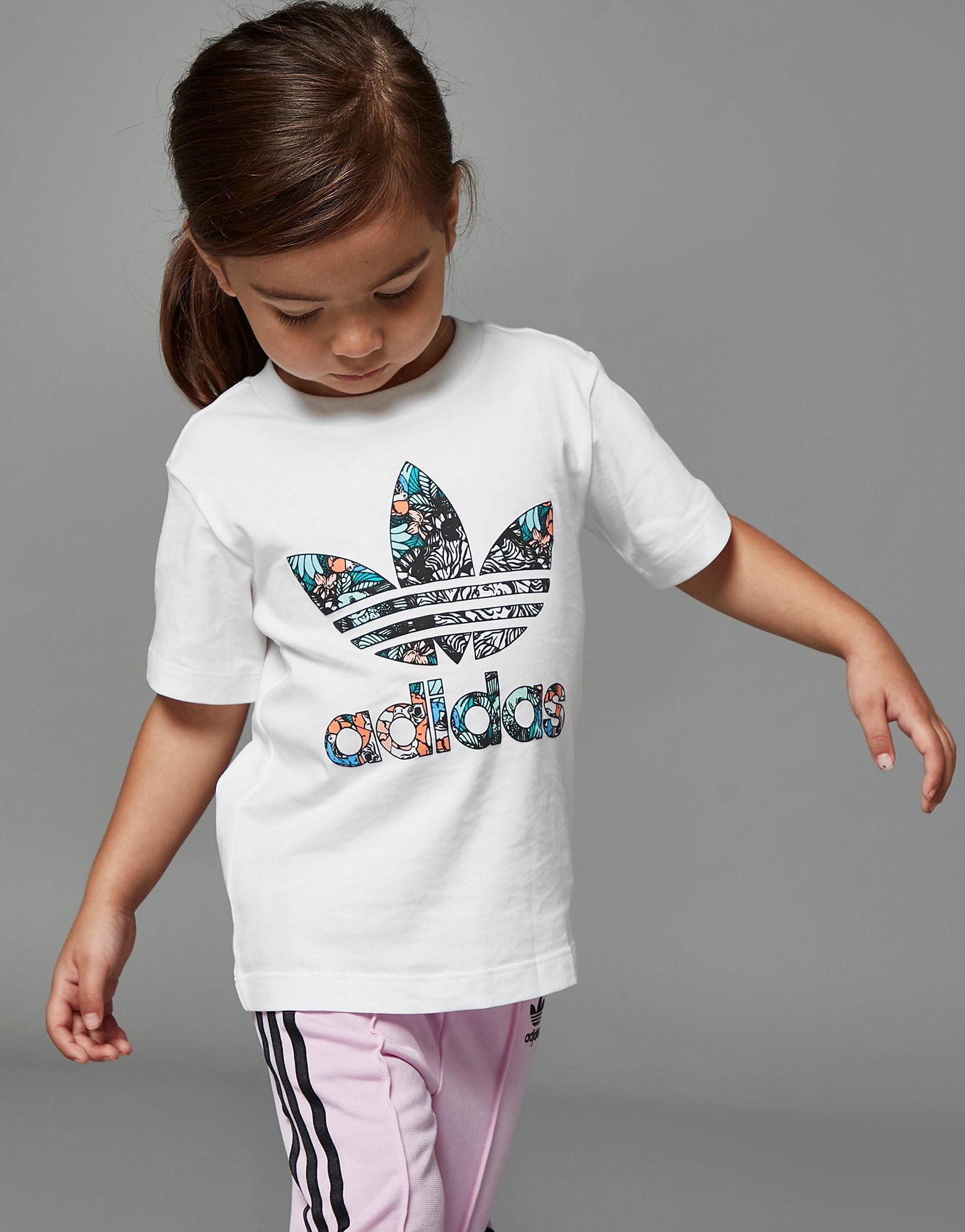 adidas Originals Girls' Zoo Infil T-Shirt Baby's - Wit - Kind