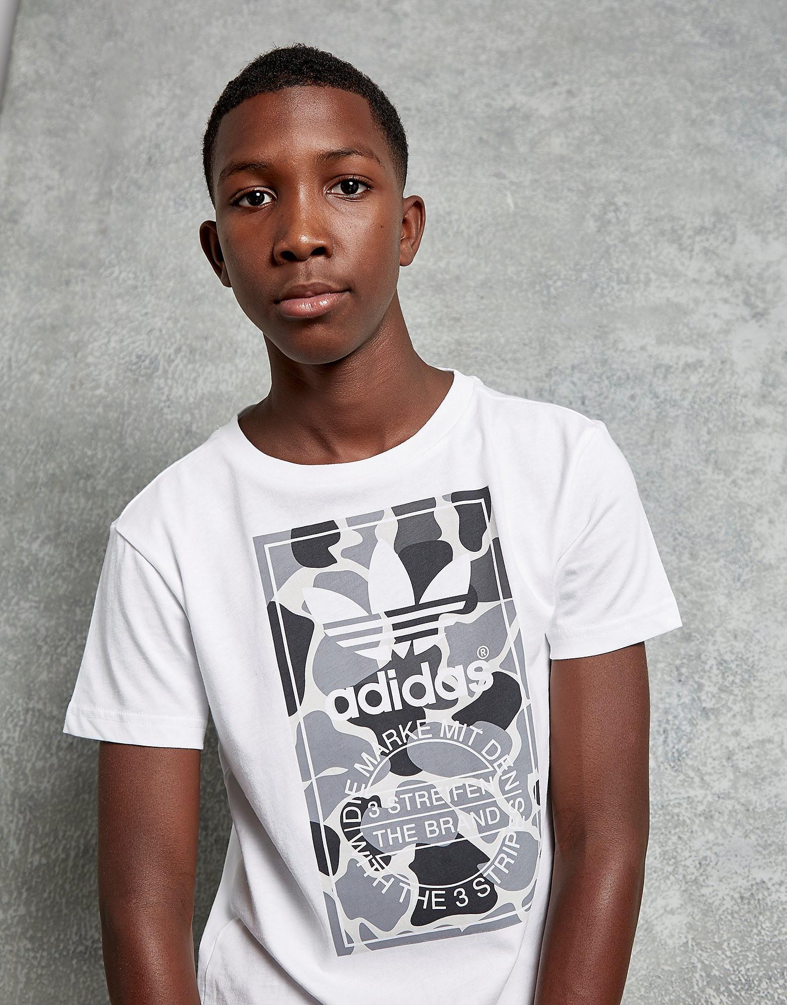 adidas Originals Camo Box T-Shirt Junior - Wit - Kind