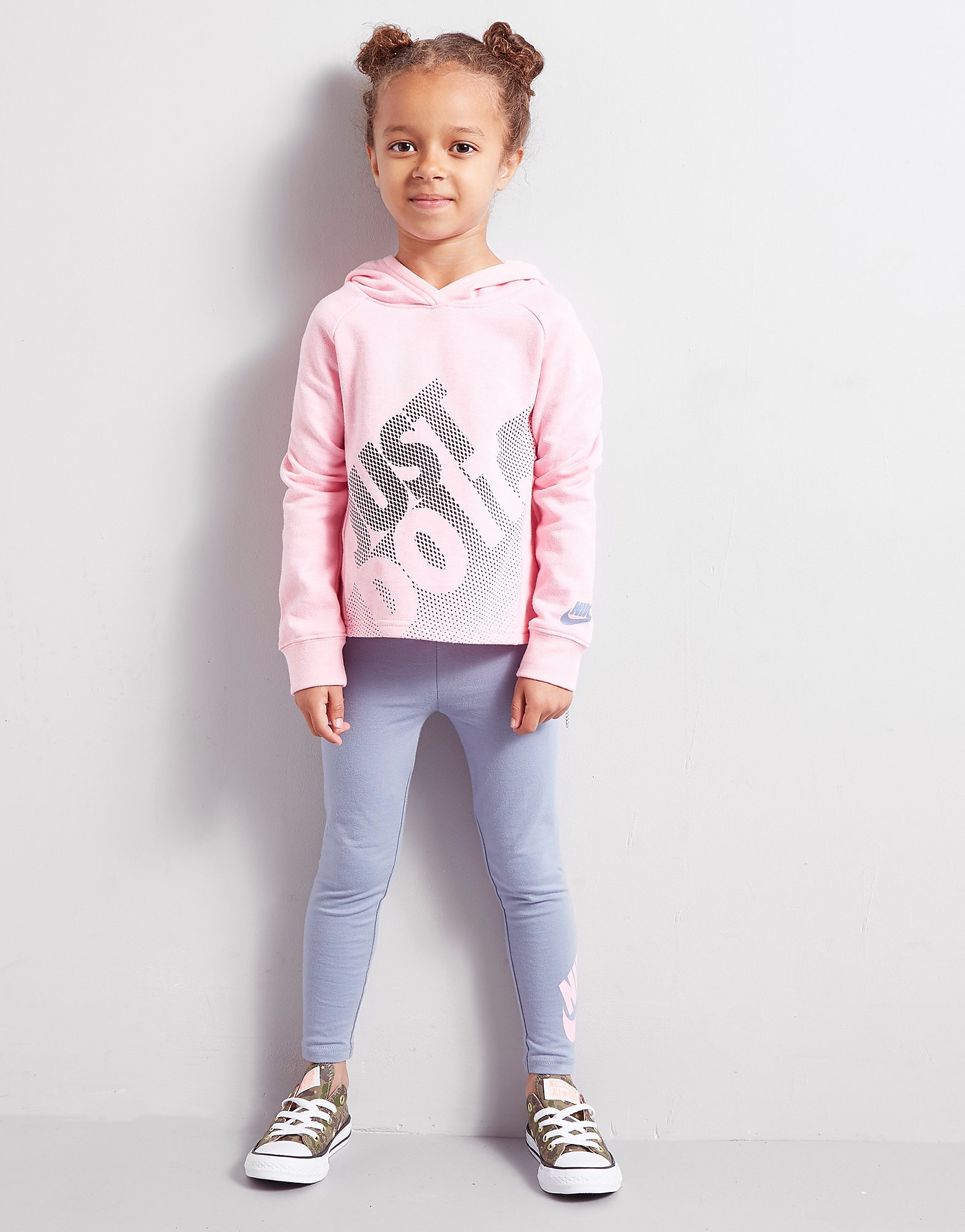 Nike Girls' Just Do It Hoodie/Leggings Set Kinderen - Roze - Kind
