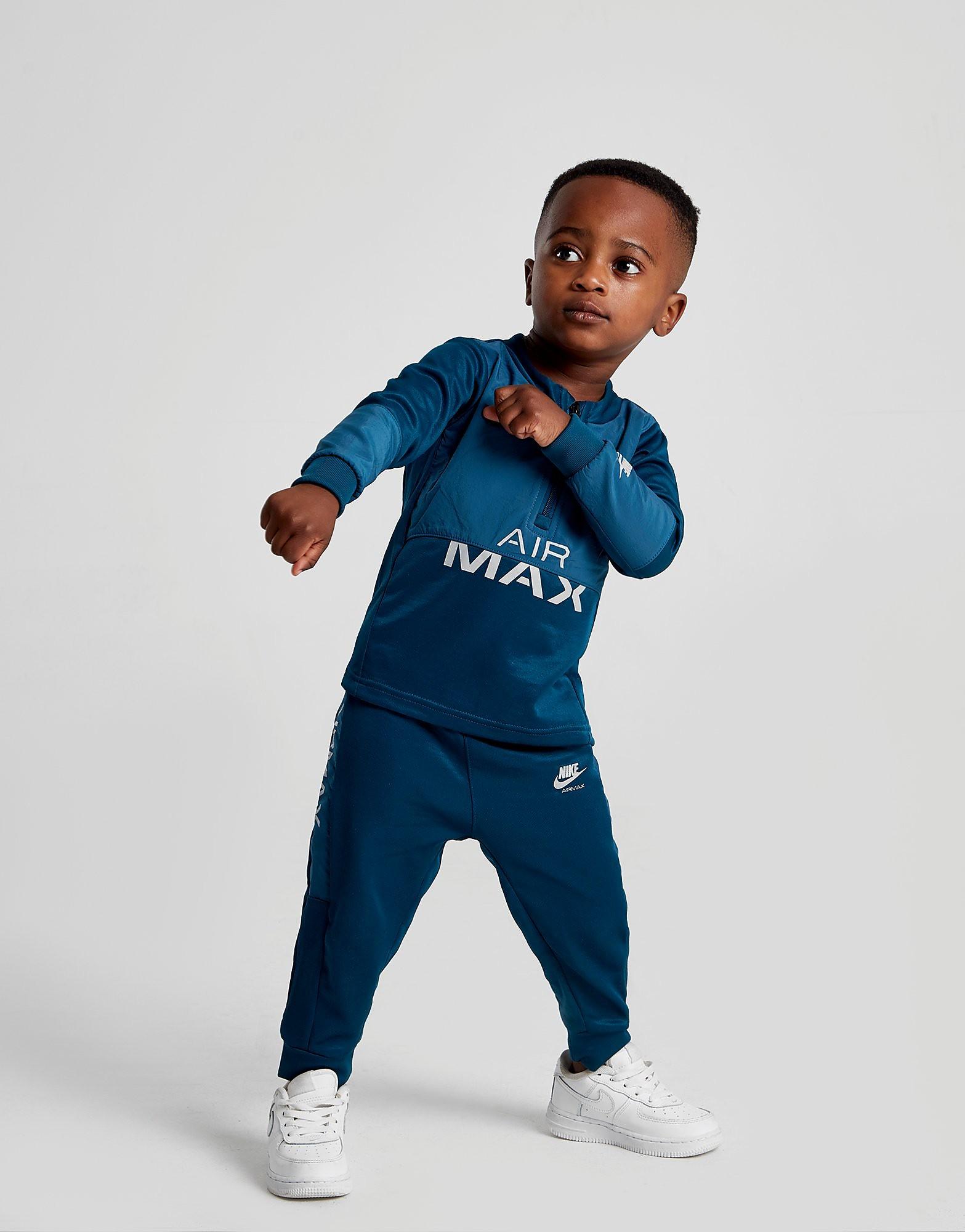 Nike Air Max Poly 1/4 Zip Tracksuit Baby's - alleen bij JD - Blauw - Kind