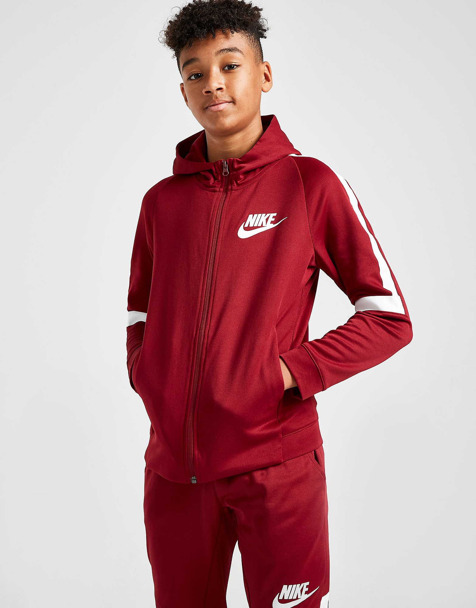 Nike Tribute Poly Hoodie Junior - Rood - Kind