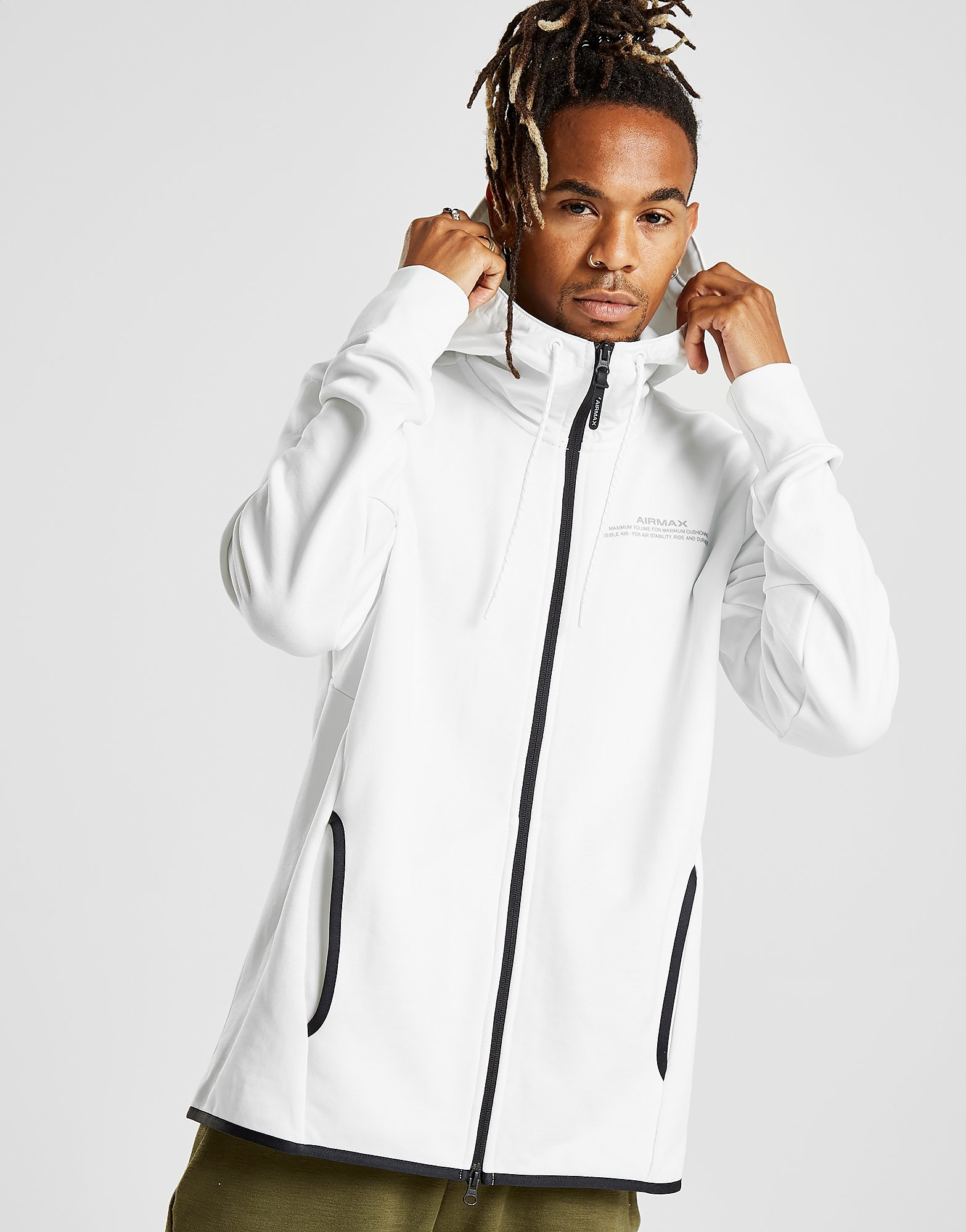 Nike Air Max French Terry Hoodie Heren - Wit - Heren