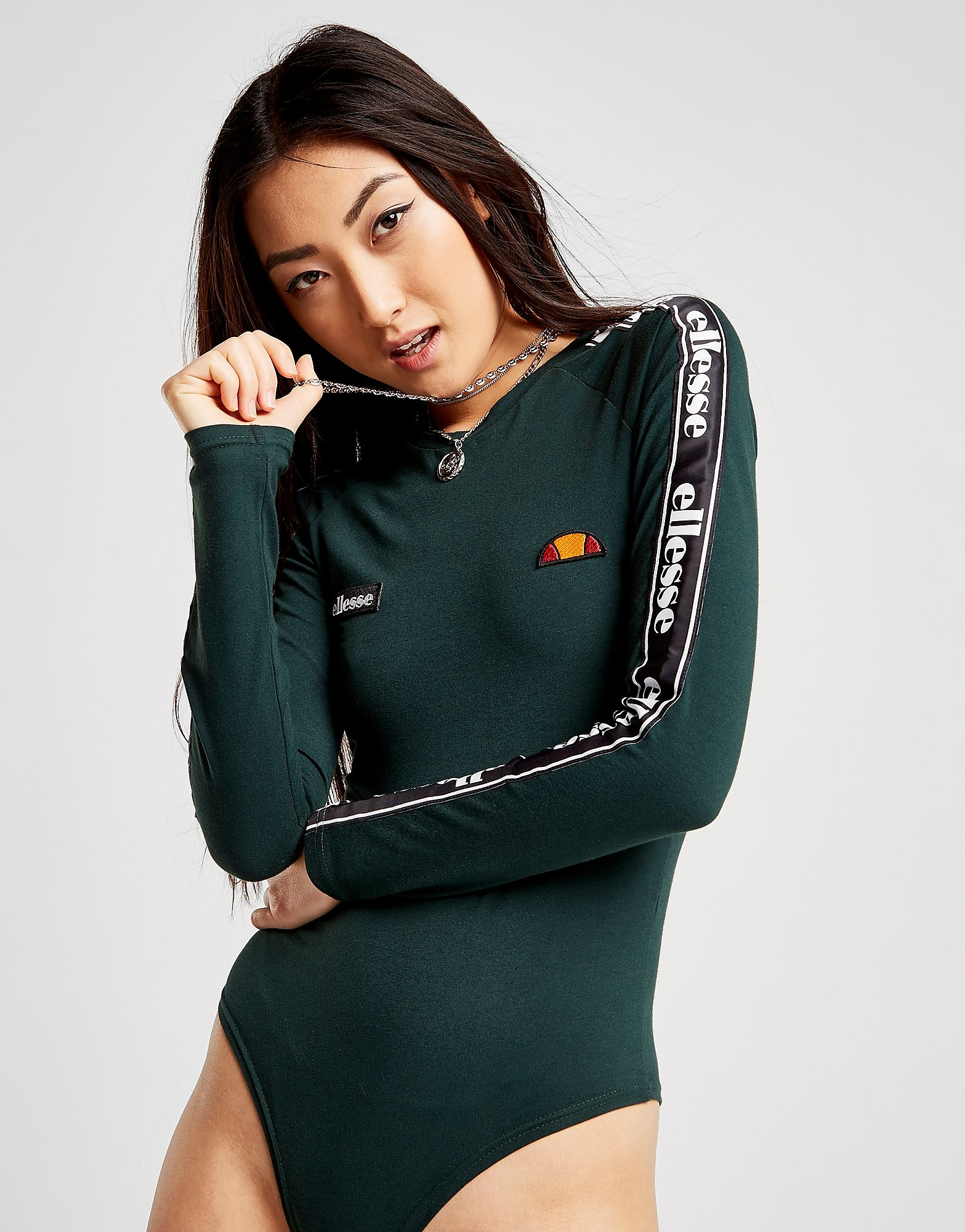 Ellesse Body à manches longues Tape Femme - Only at JD - Vert, Vert