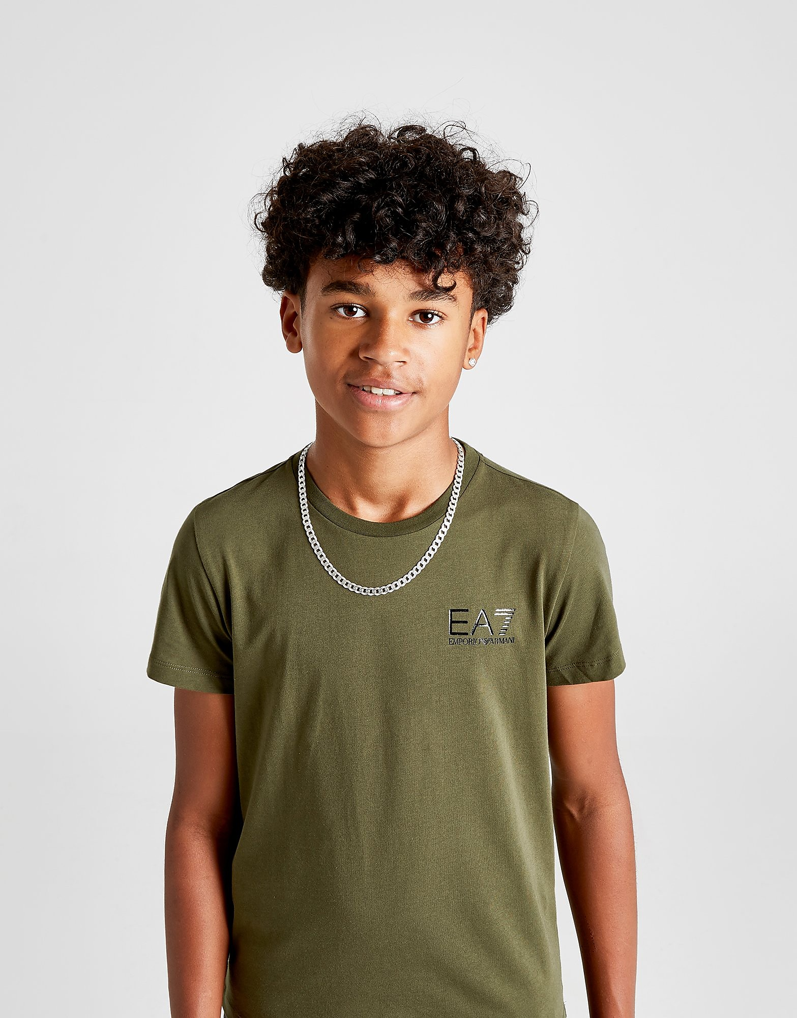 Emporio Armani EA7 Core Logo T-Shirt Junior - Groen - Kind