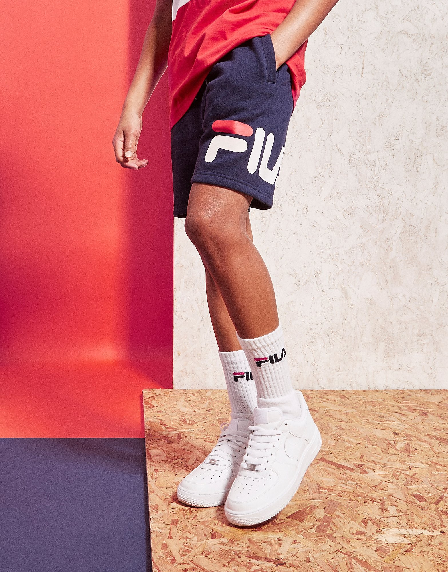 Fila Radar Fleece Shorts Junior