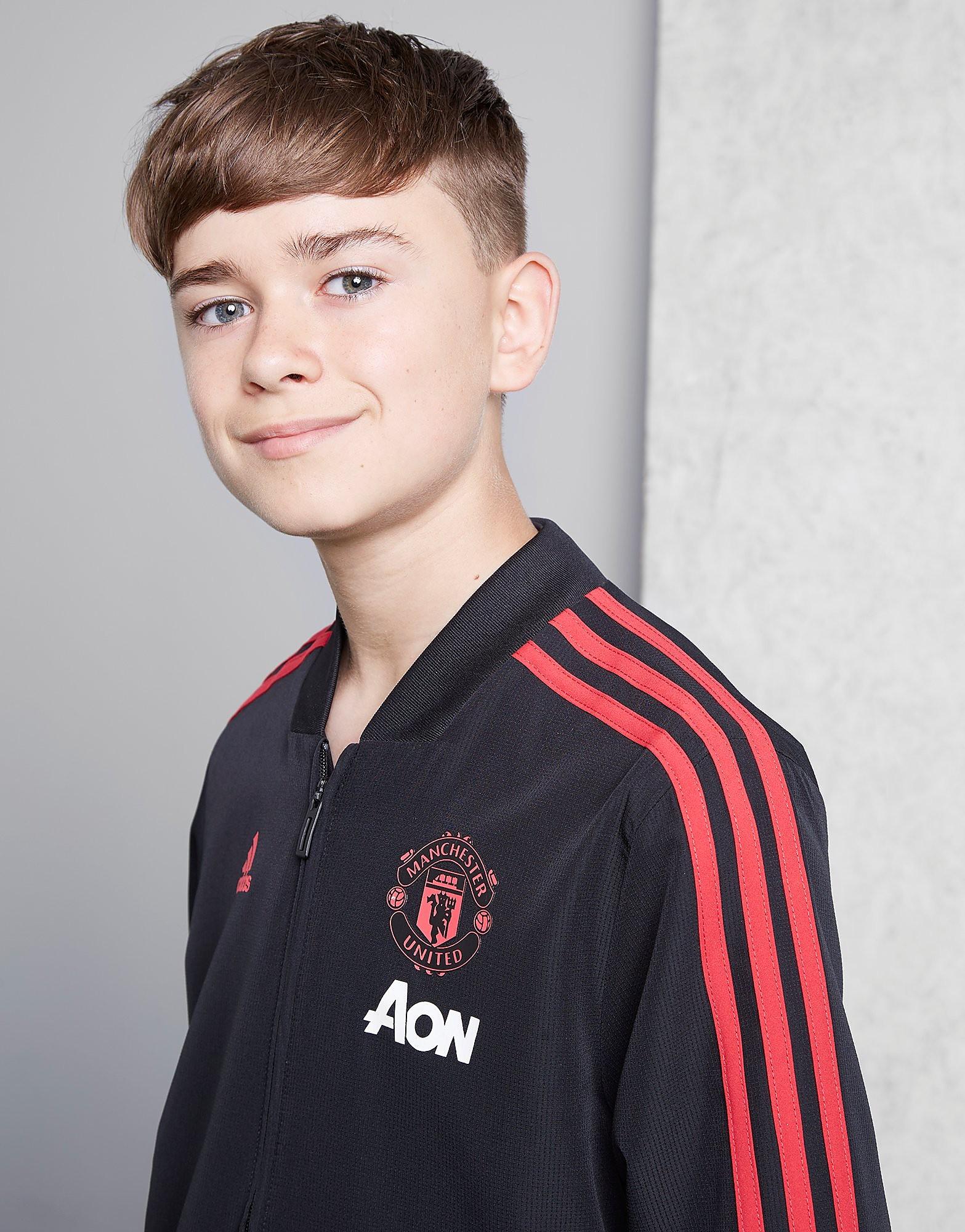 adidas Manchester United Pre Match Jacket Junior - Zwart - Kind