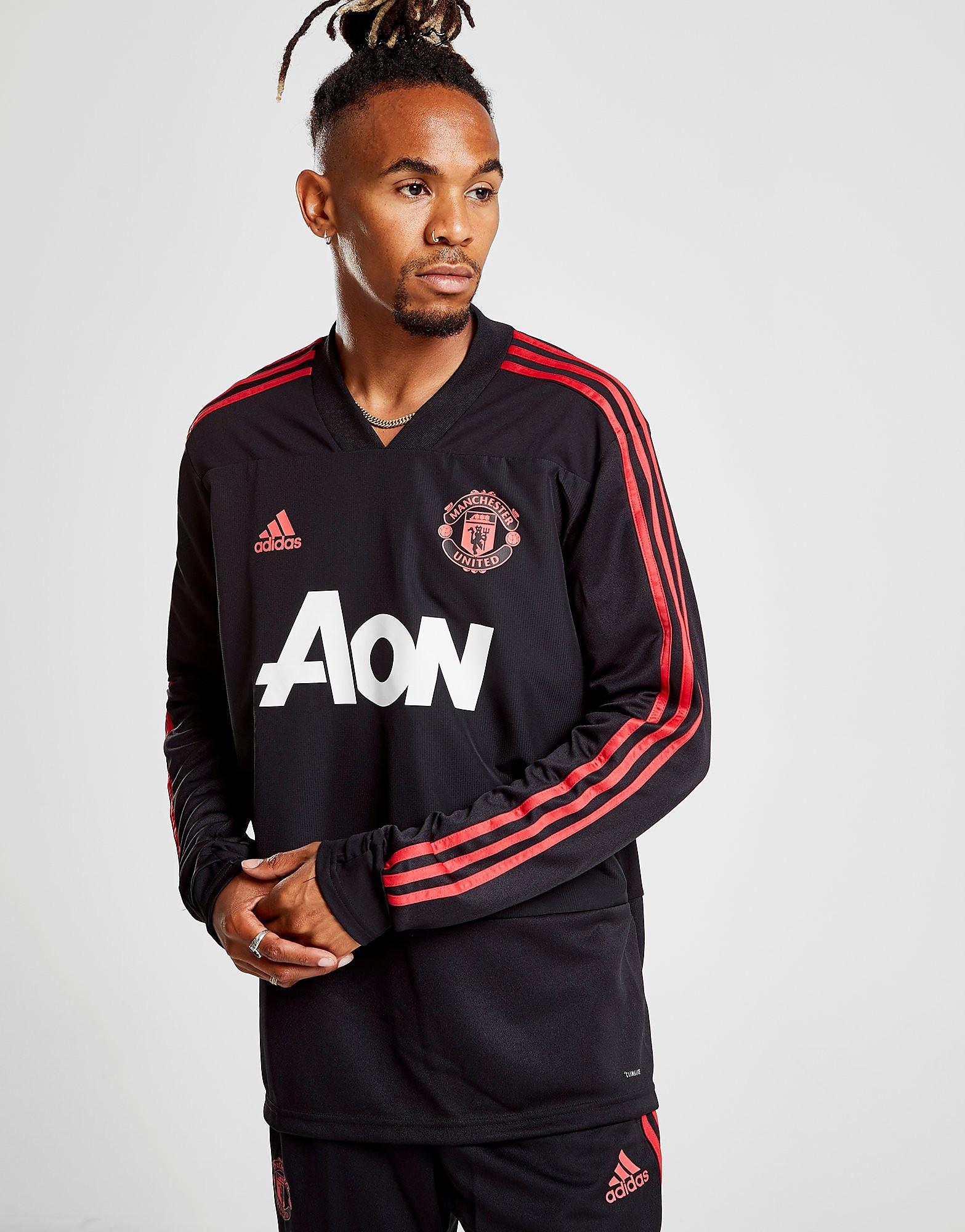 T-Shirt Lange Mouw adidas  Manchester United Trainingsshirt