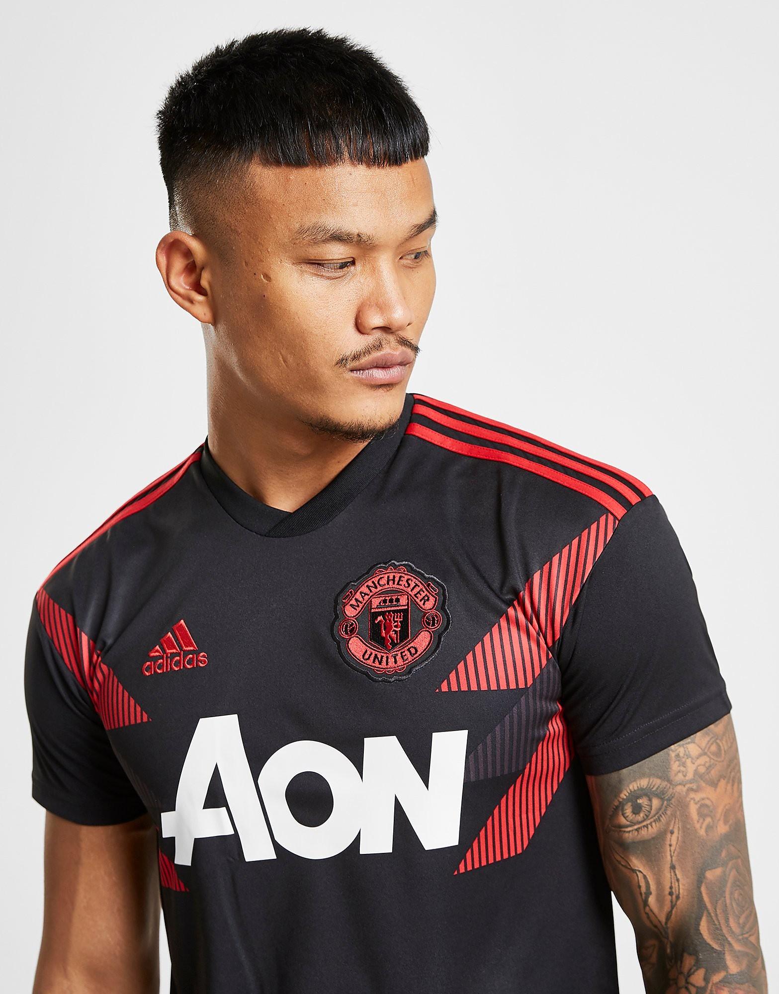 adidas Manchester United FC Home Pre-Match Shirt Heren - Zwart - Heren