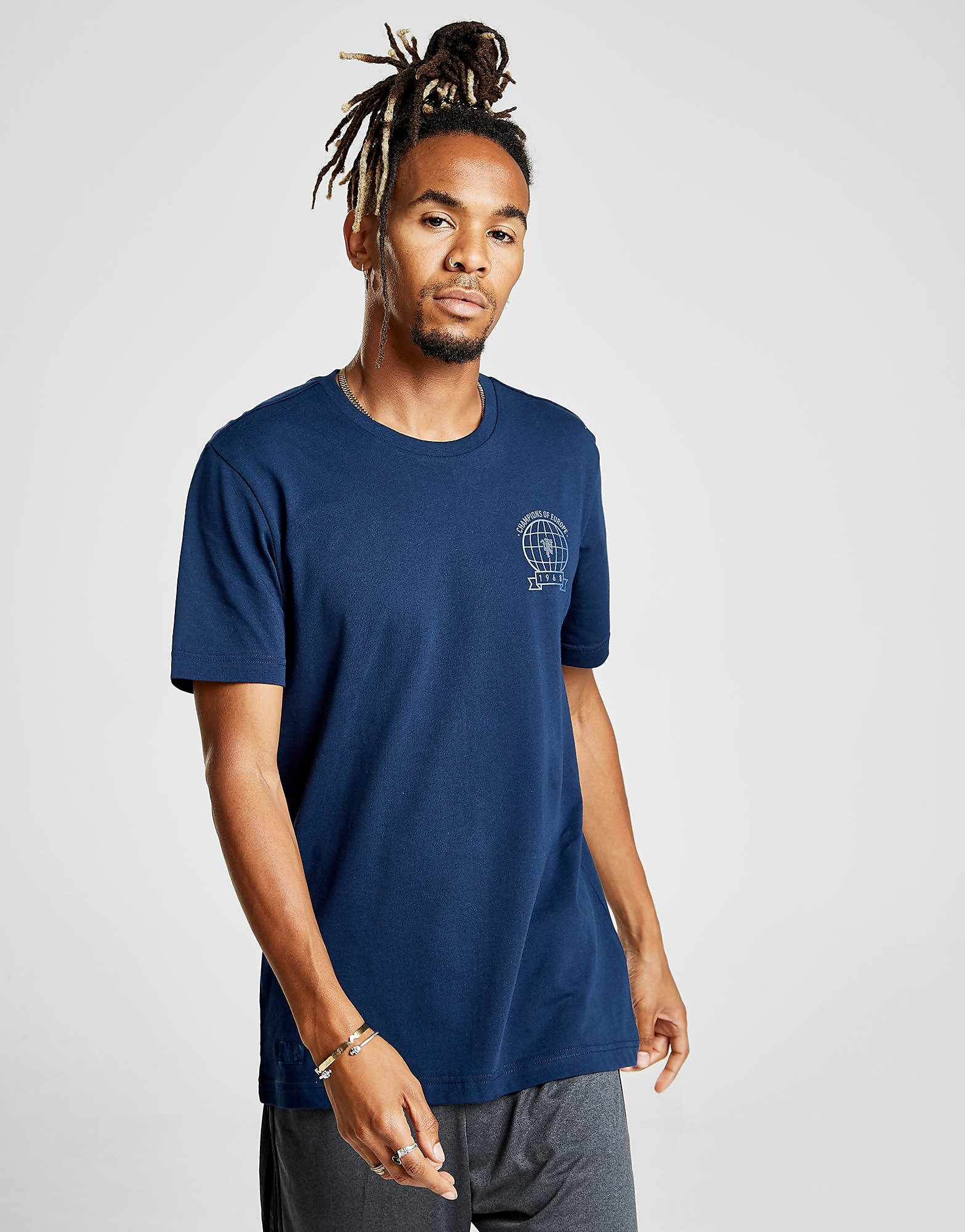 adidas Manchester United FC Graphic T-Shirt Heren - Blauw - Heren