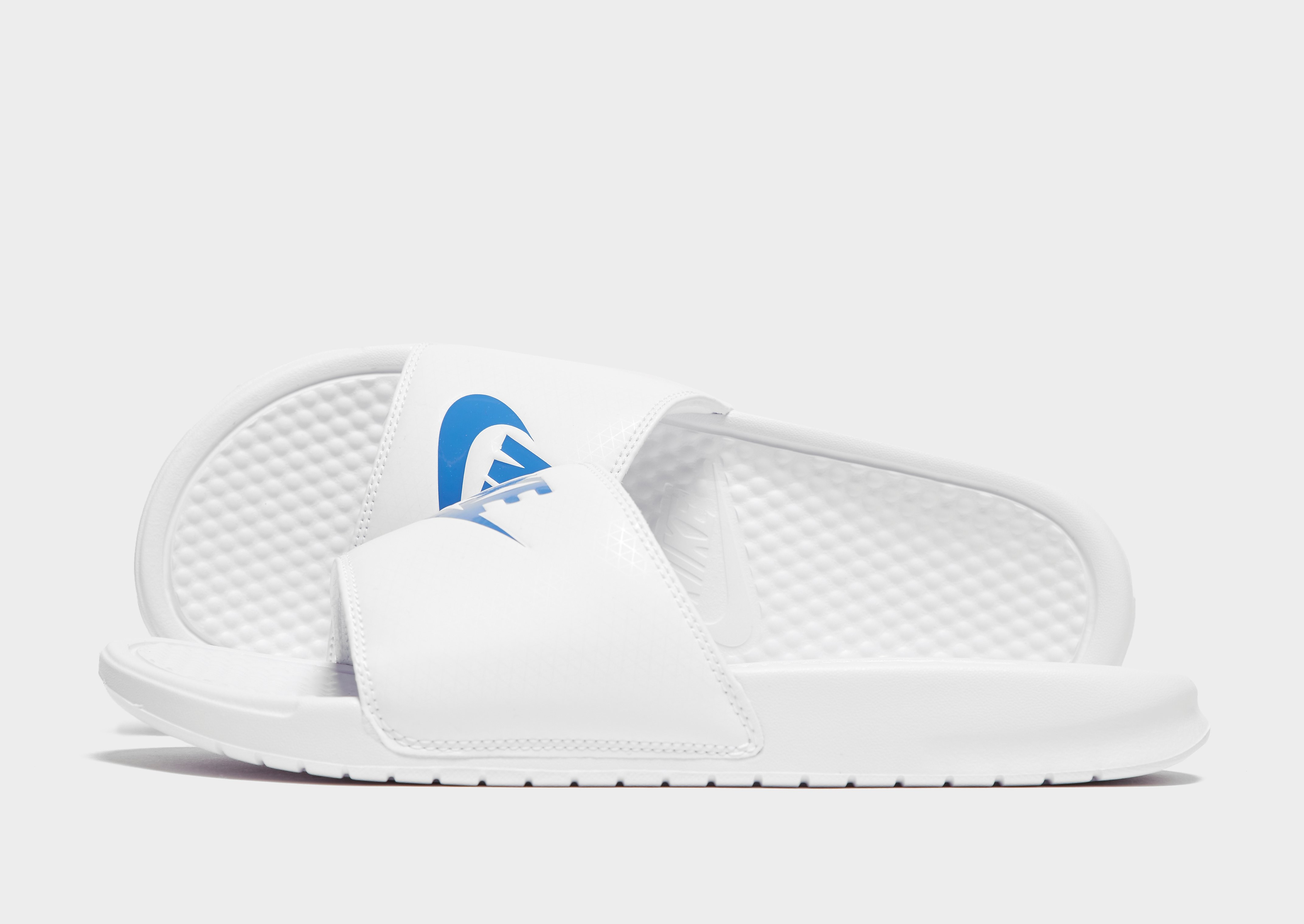 Nike Benassi Just Do It Slides Heren - Wit - Heren