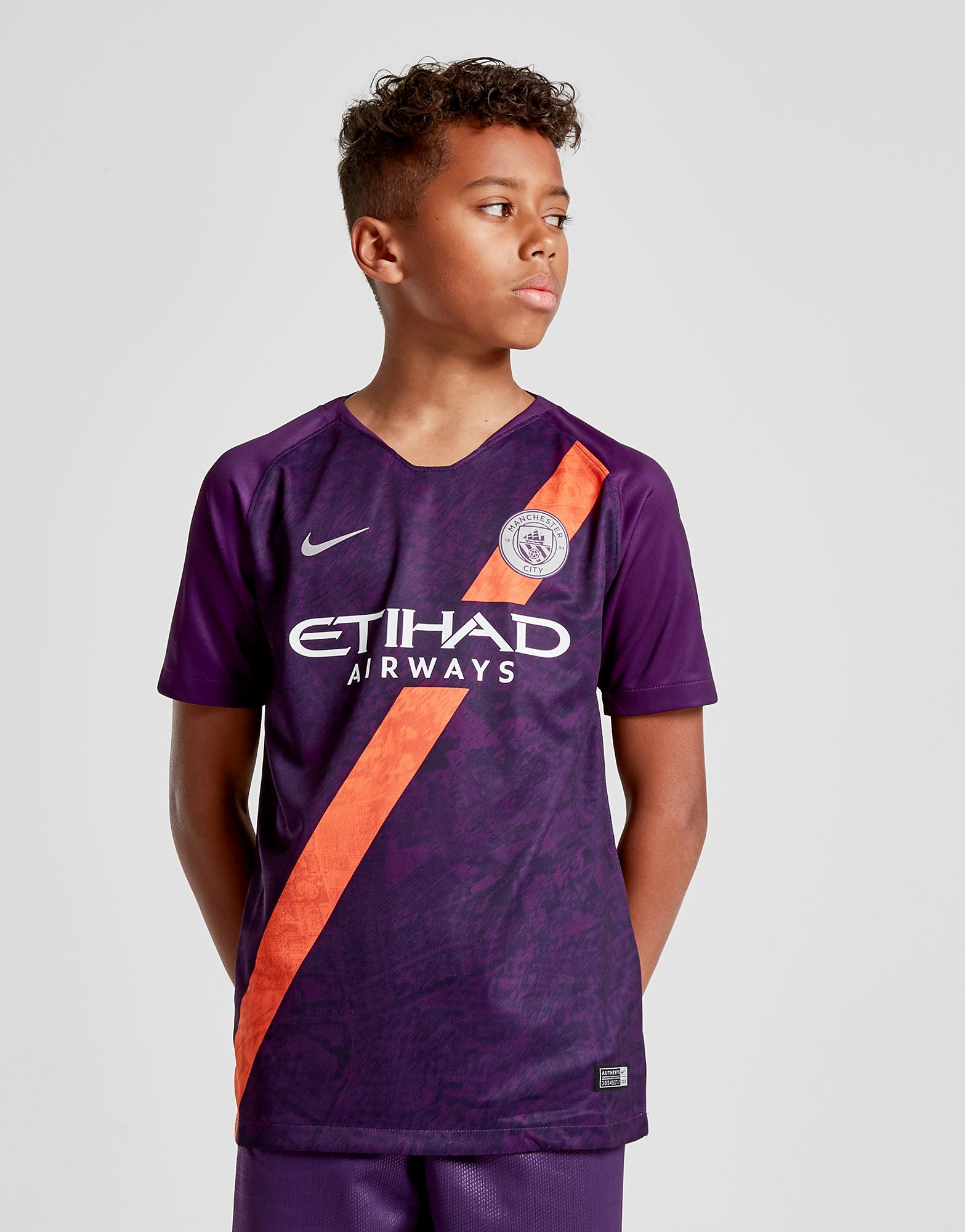 Nike Manchester City FC 2018/19 Third Shirt Junior - Paars - Kind