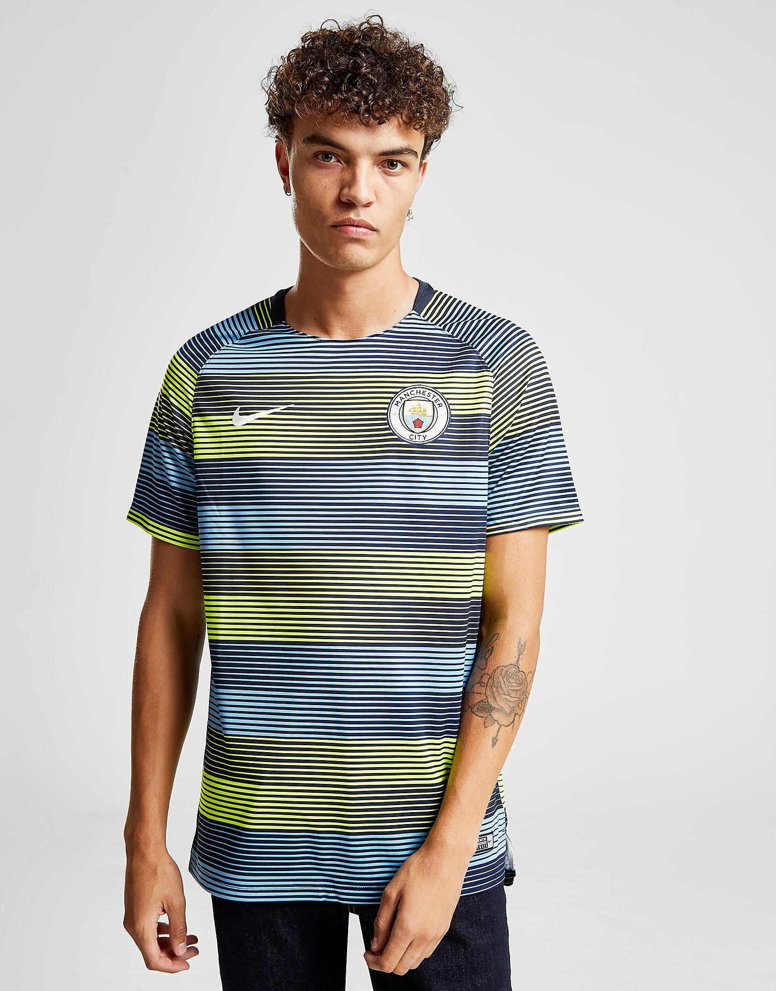 Nike Manchester City FC Dri-FIT Squad Top Heren - Blauw - Heren