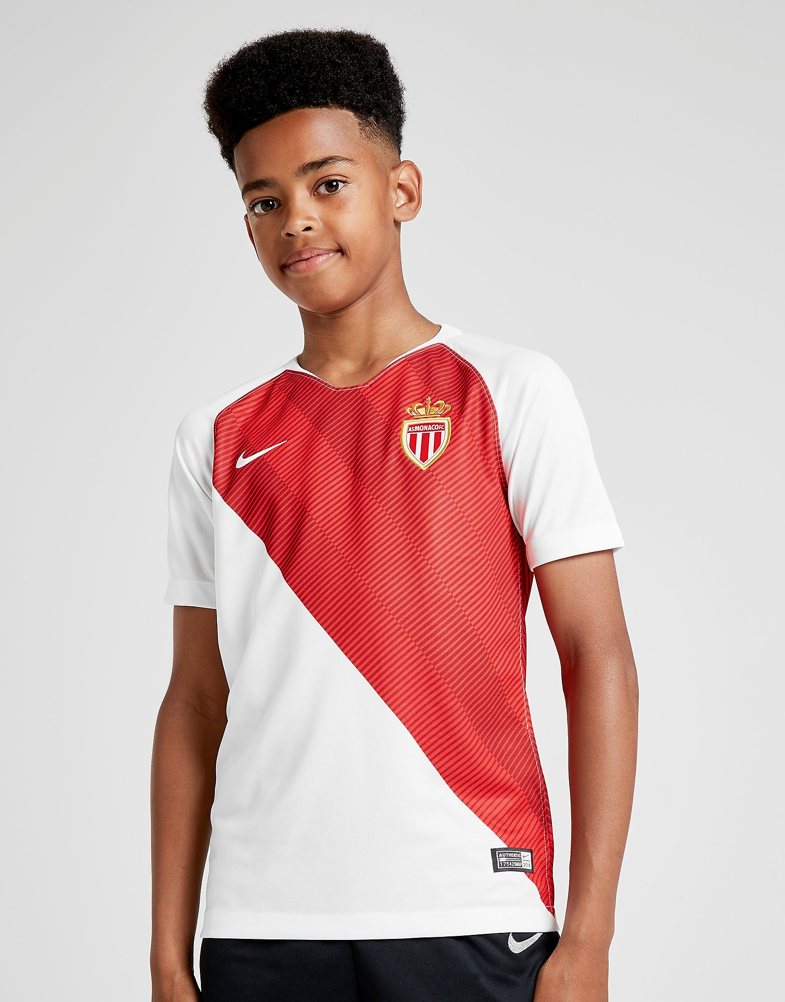 Nike AS Monaco 2018/19 Home Shirt Junior - Wit - Kind