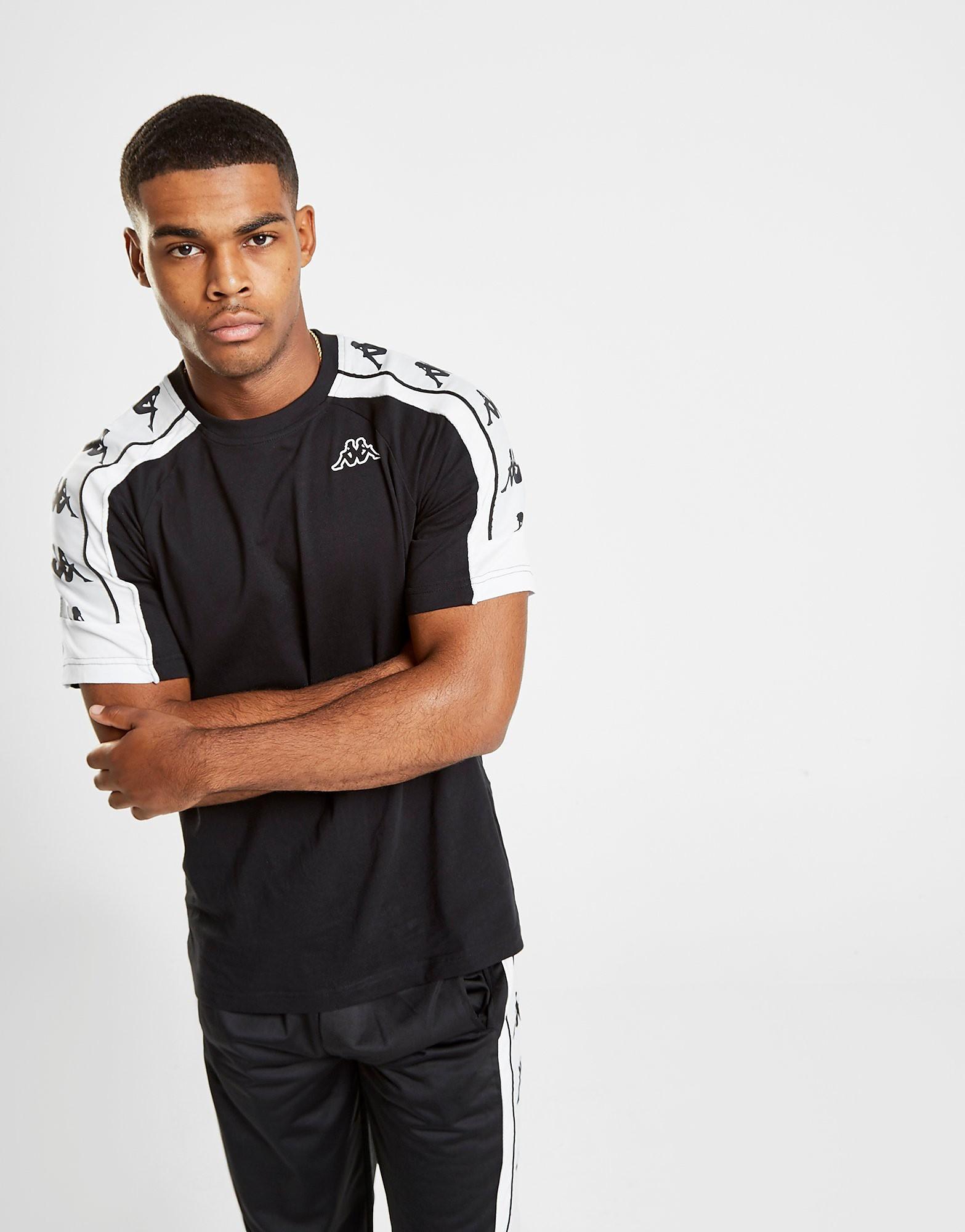 Kappa T-shirt Arset Banda Homme - Noir, Noir