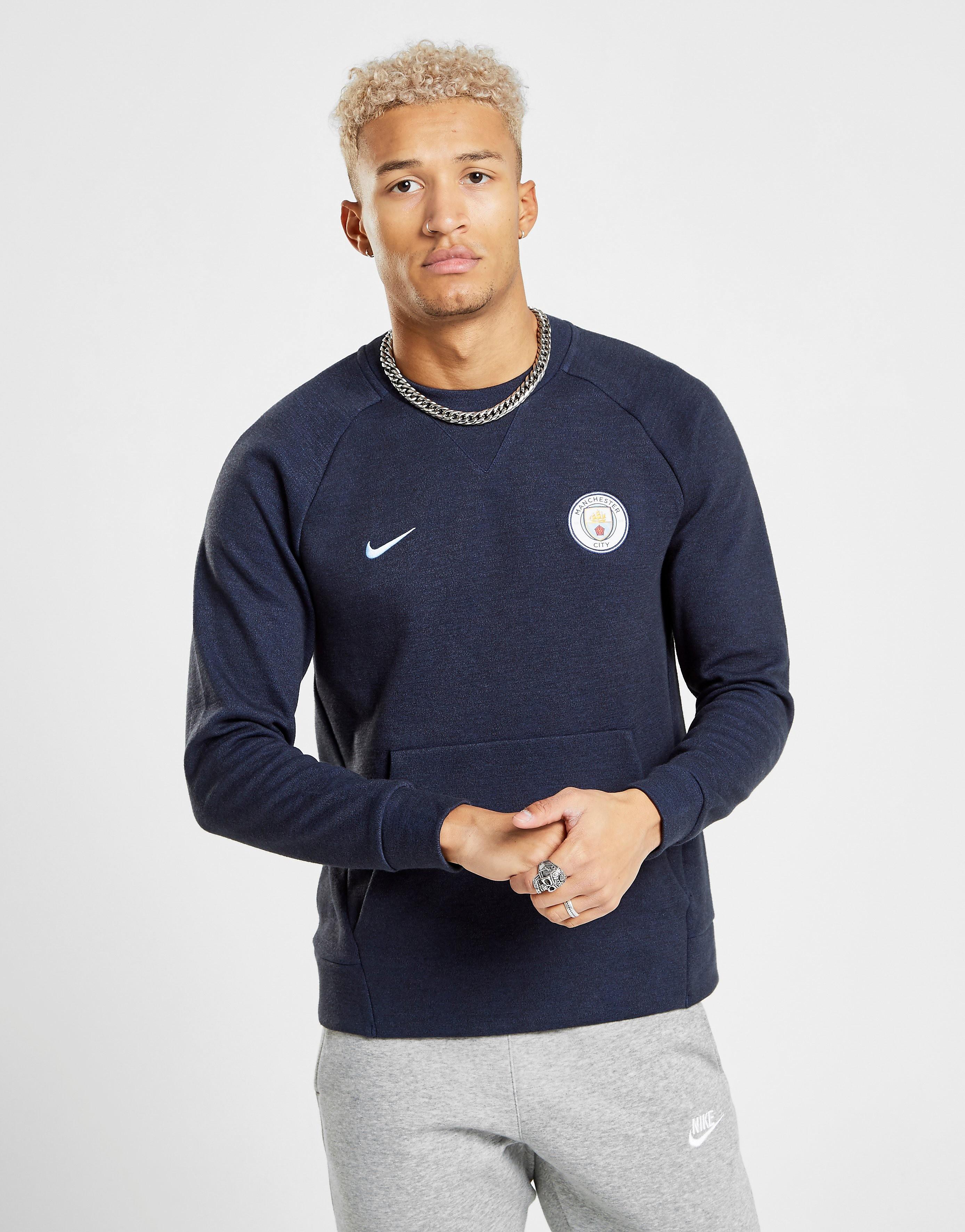 Nike Manchester United FC Crew Sweatshirt Heren - Blauw - Heren