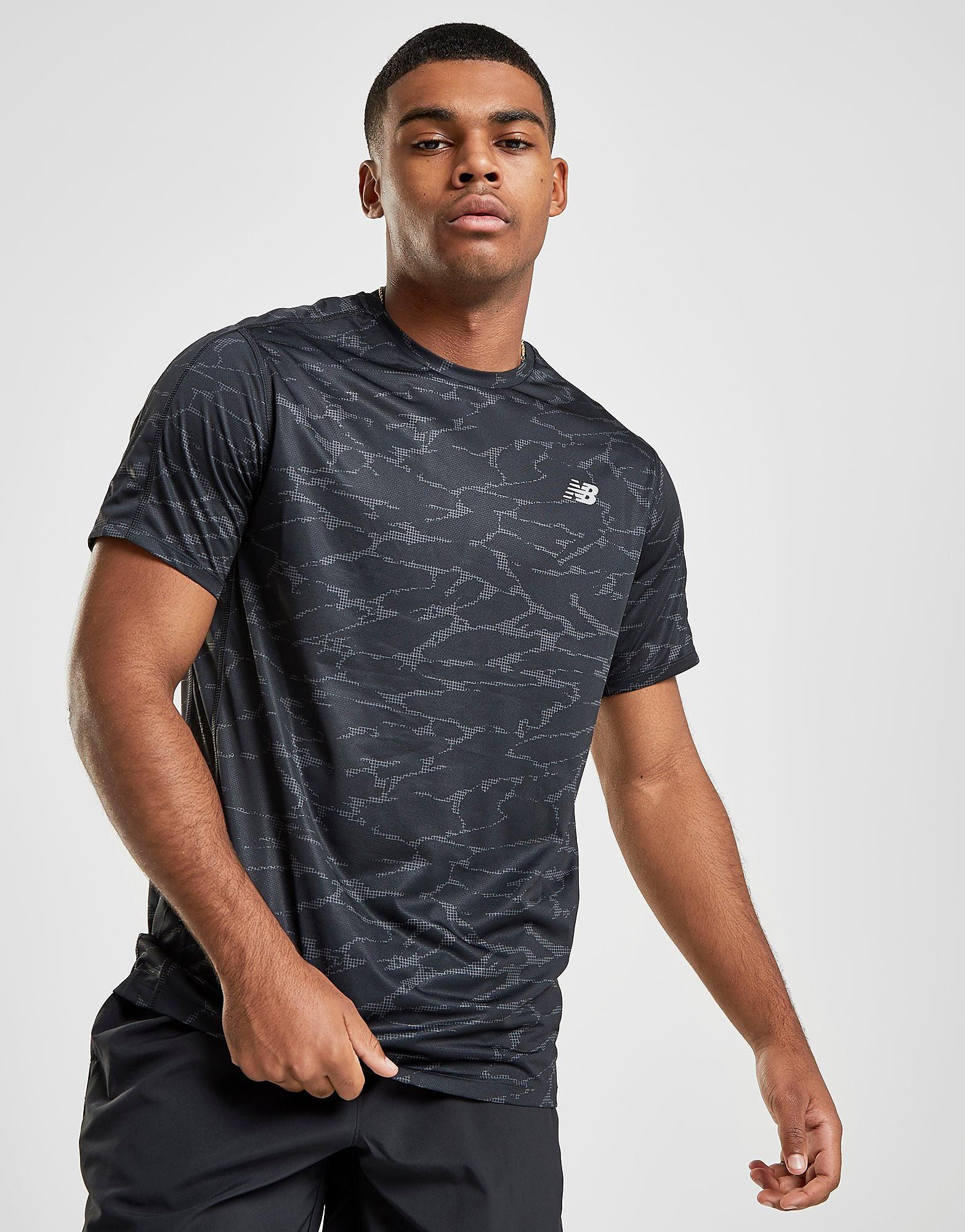 New Balance Accelerate All Over Print T-Shirt Heren - Zwart - Heren