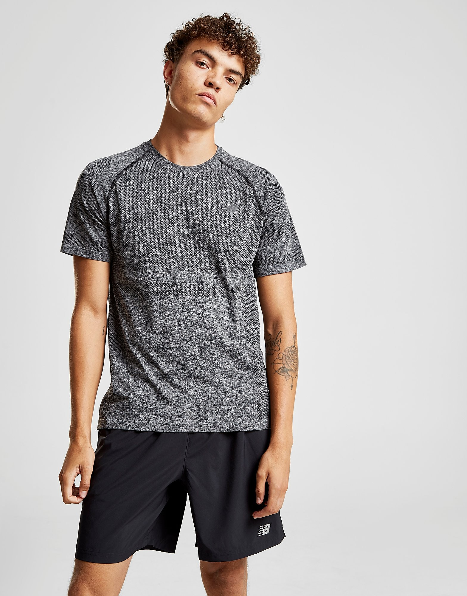 New Balance Seamless T-Shirt Heren - Grijs - Heren