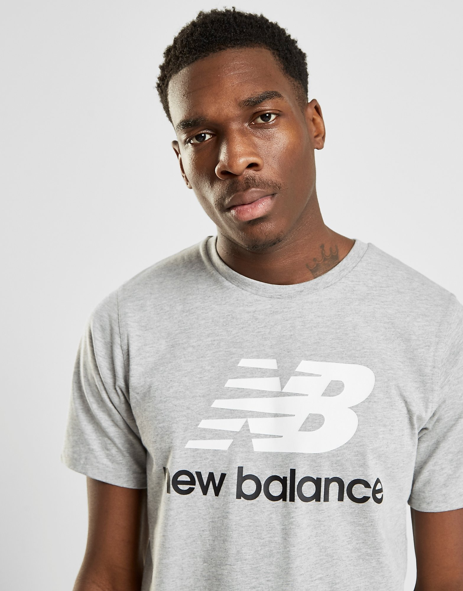 New Balance Logo T-Shirt Heren - Grijs - Heren