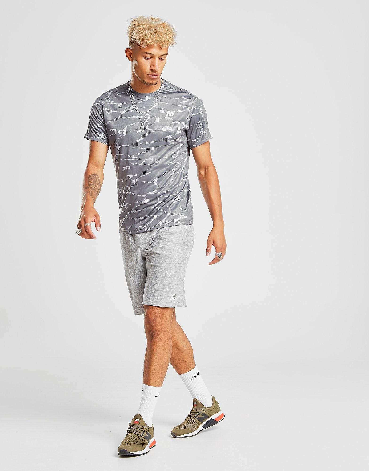 New Balance Accelerate All Over Print T-Shirt Heren - Grijs - Heren