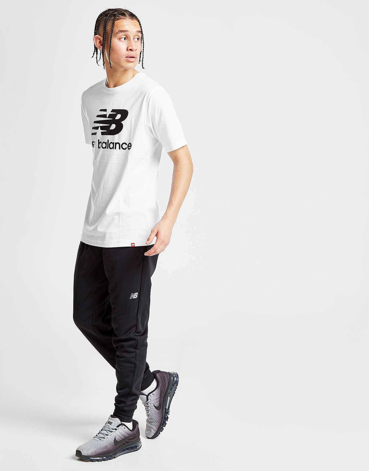 New Balance Poly Track Pants Heren - Zwart - Heren