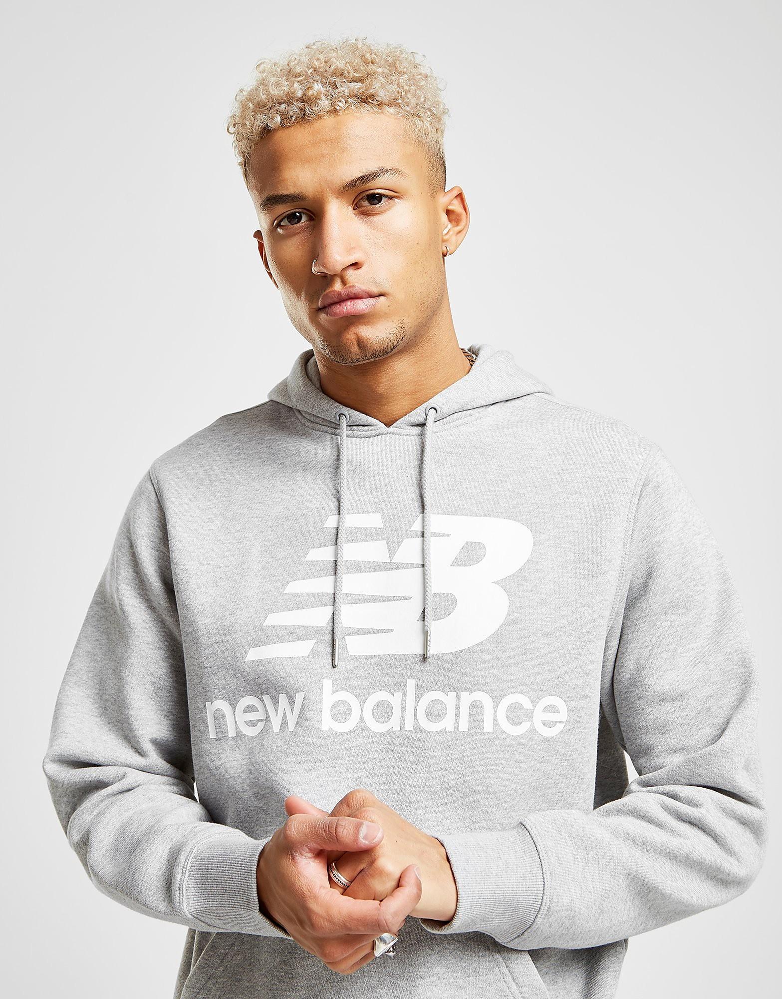 New Balance Large Logo Hoodie Heren - Grijs - Heren