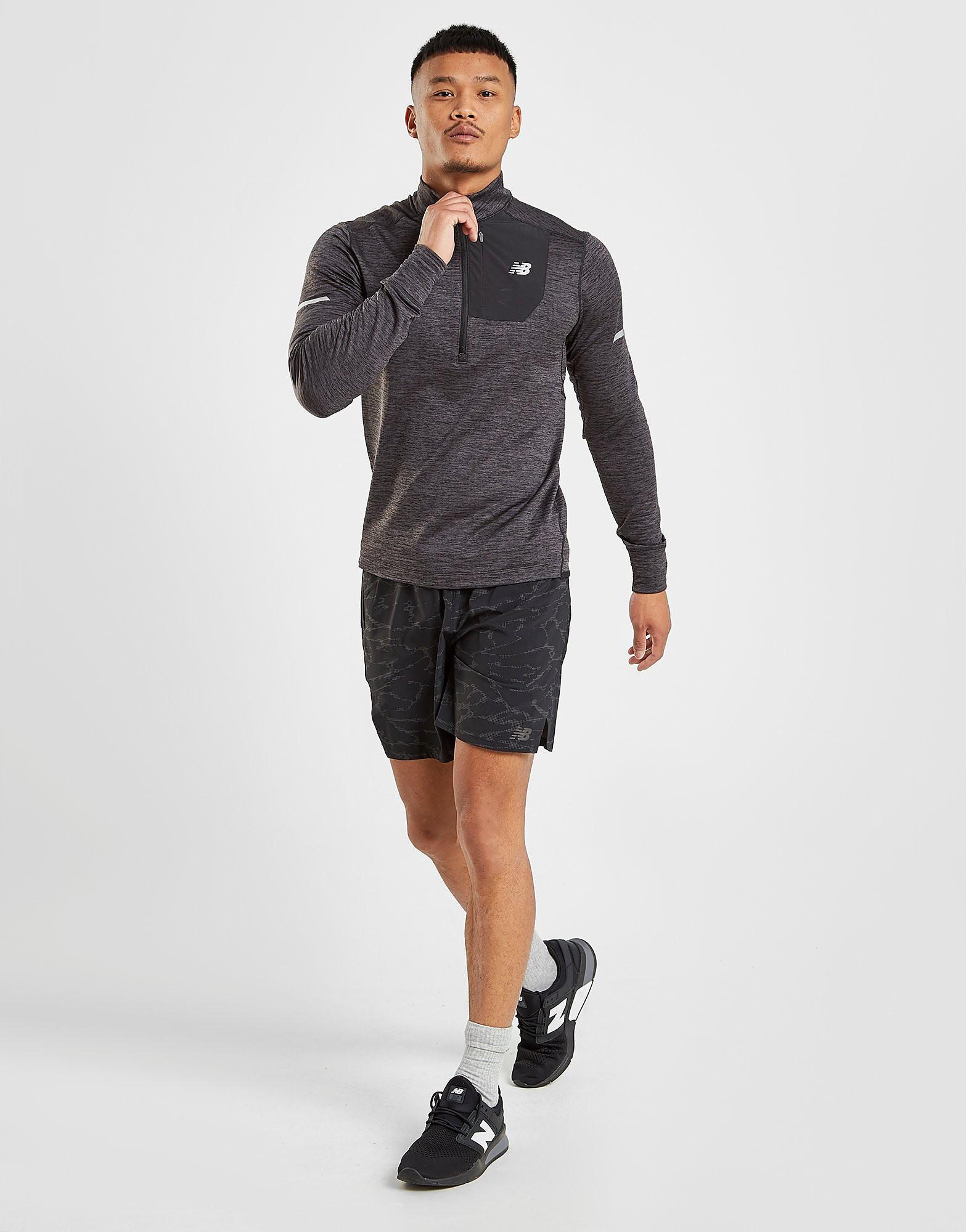 New Balance Heat 1/4 Zip Sweatshirt Heren - Grijs - Heren