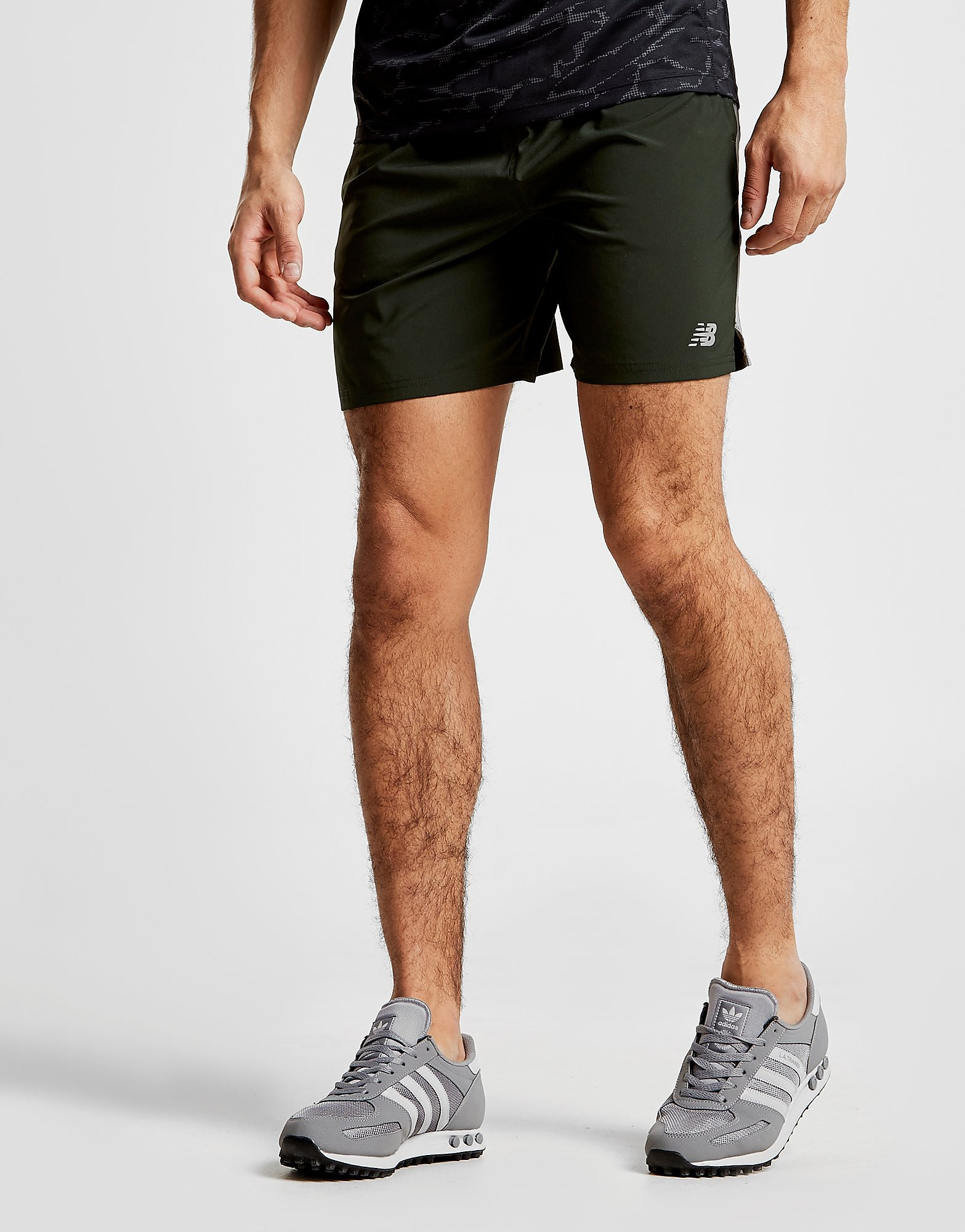 New Balance Core Running Shorts Heren - Groen - Heren