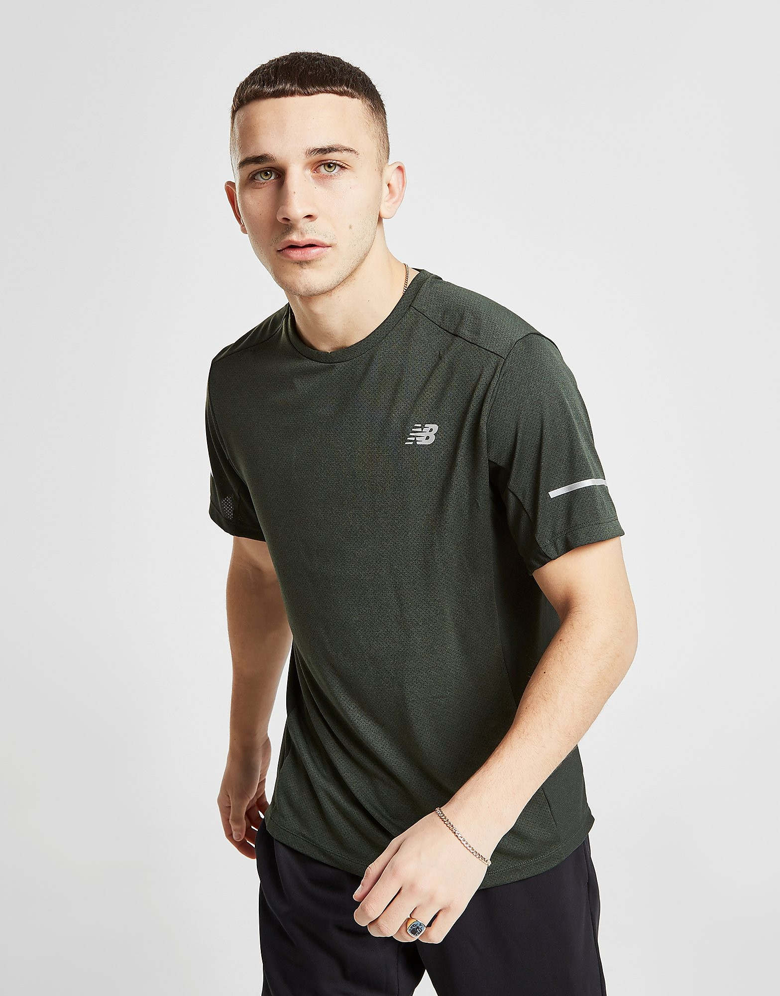 New Balance Breathe T-Shirt Heren - Groen - Heren