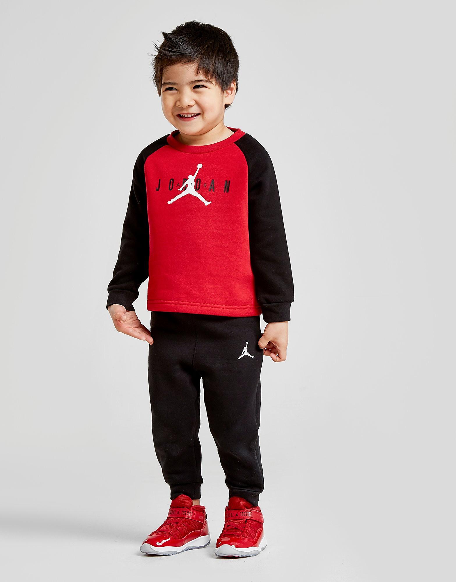 Jordan Colour Block Crew Suit Infant - alleen bij JD - Rood - Kind