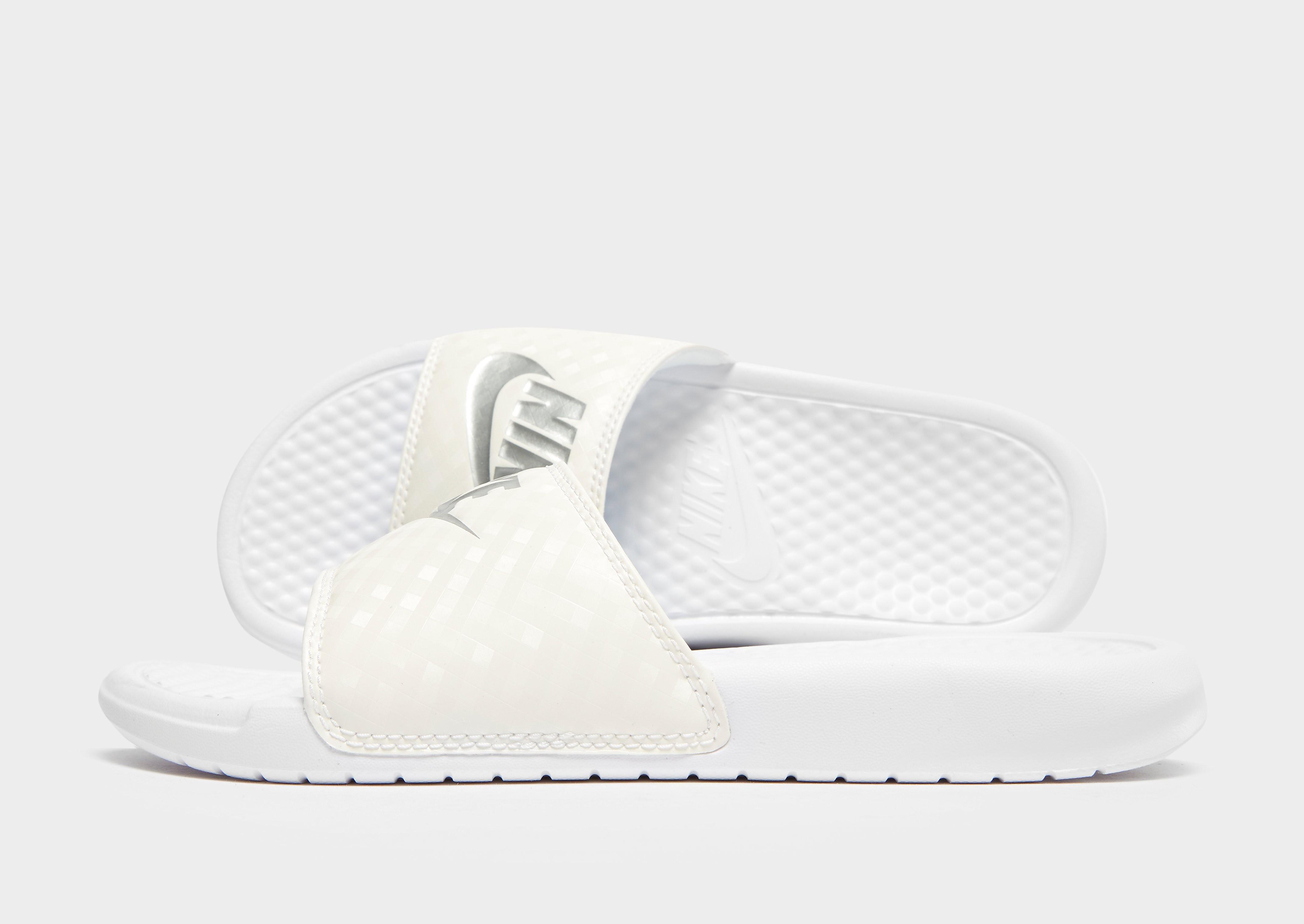 Nike Benassi Just Do It Slides Dames - Wit - Dames