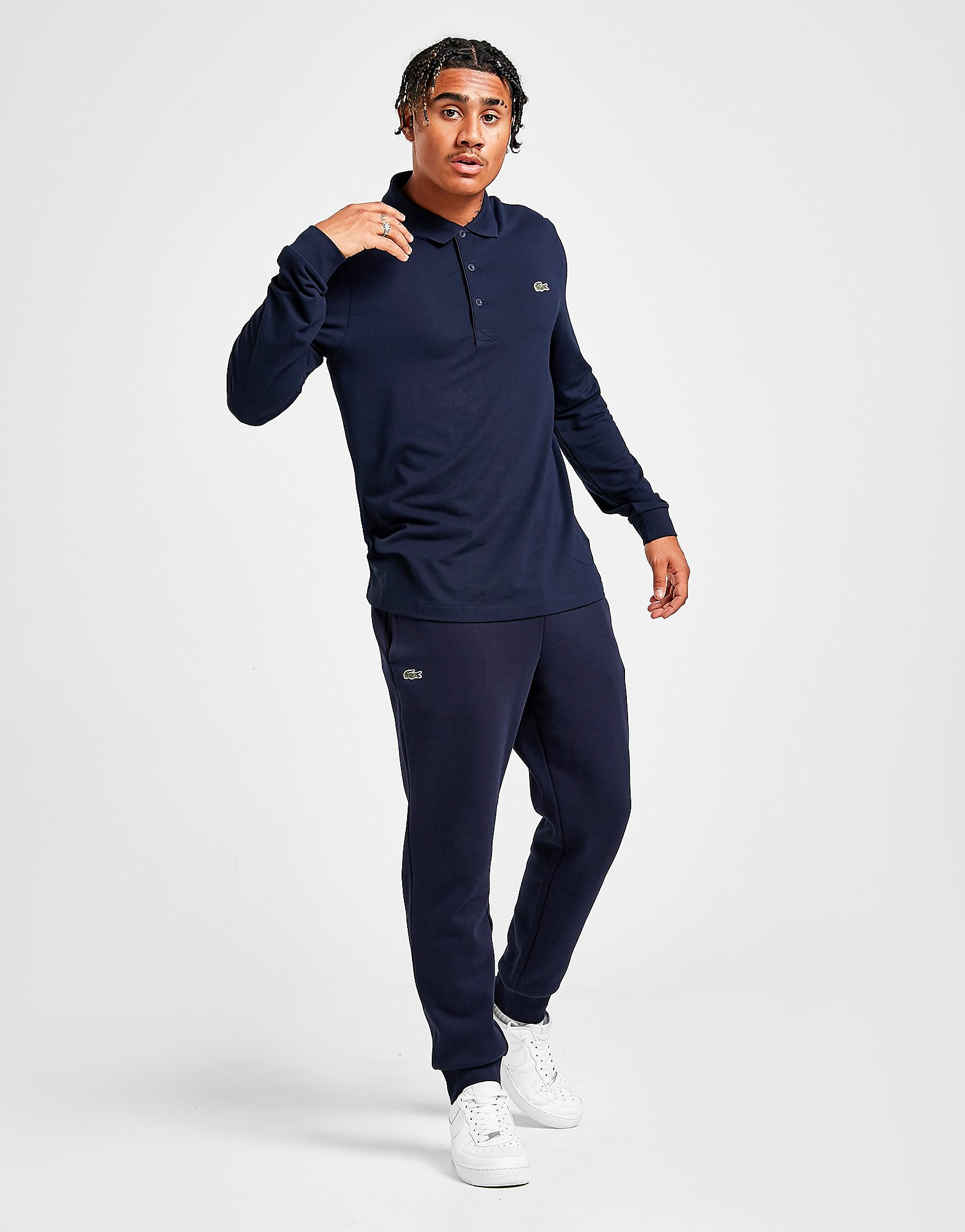 25696238ac548c Lacoste Slim Cuffed Fleece Pants - Blau - Mens, Blau   Kleidung ...