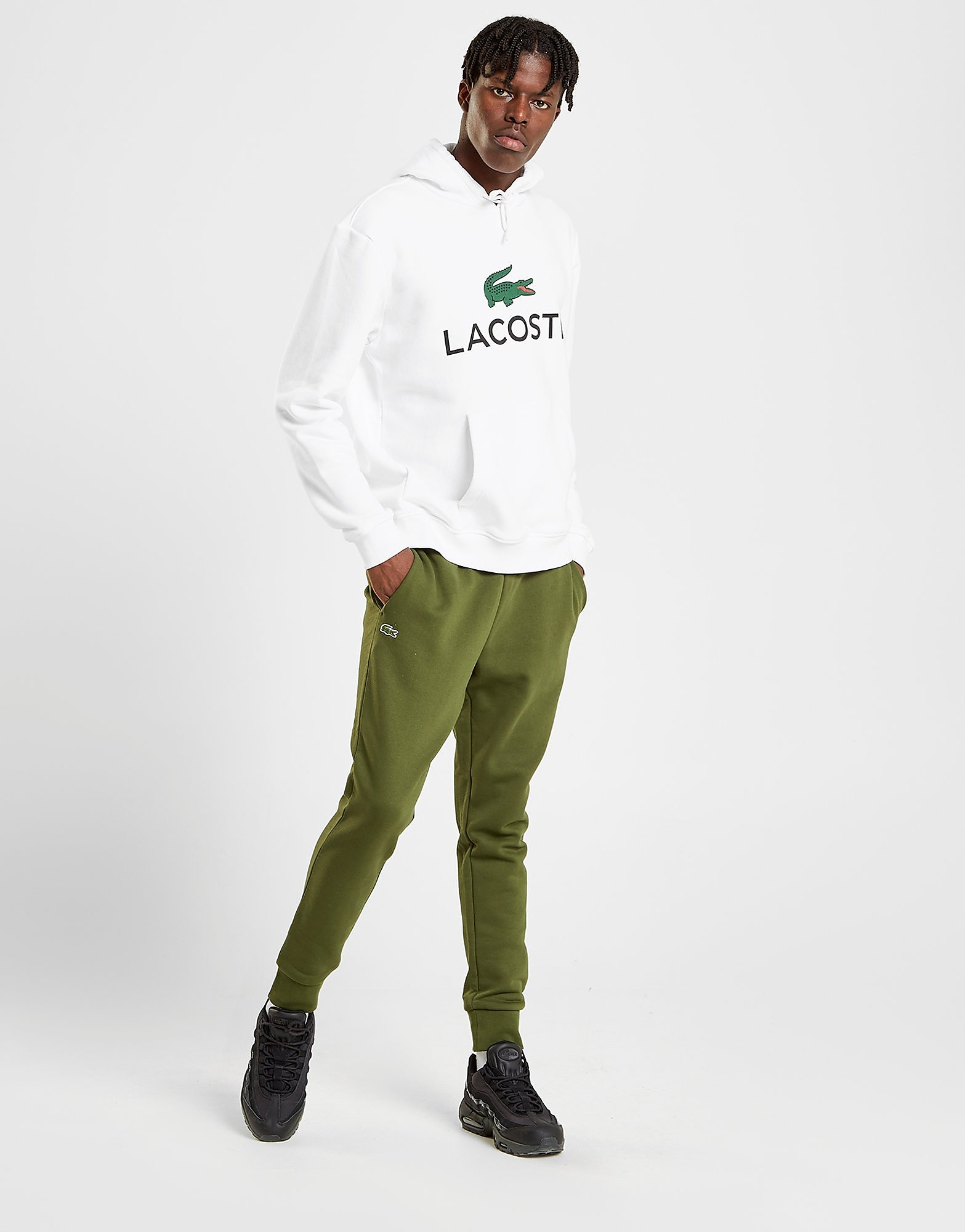 Lacoste Slim Fleece Track Pants Heren - alleen bij JD - Khaki - Heren