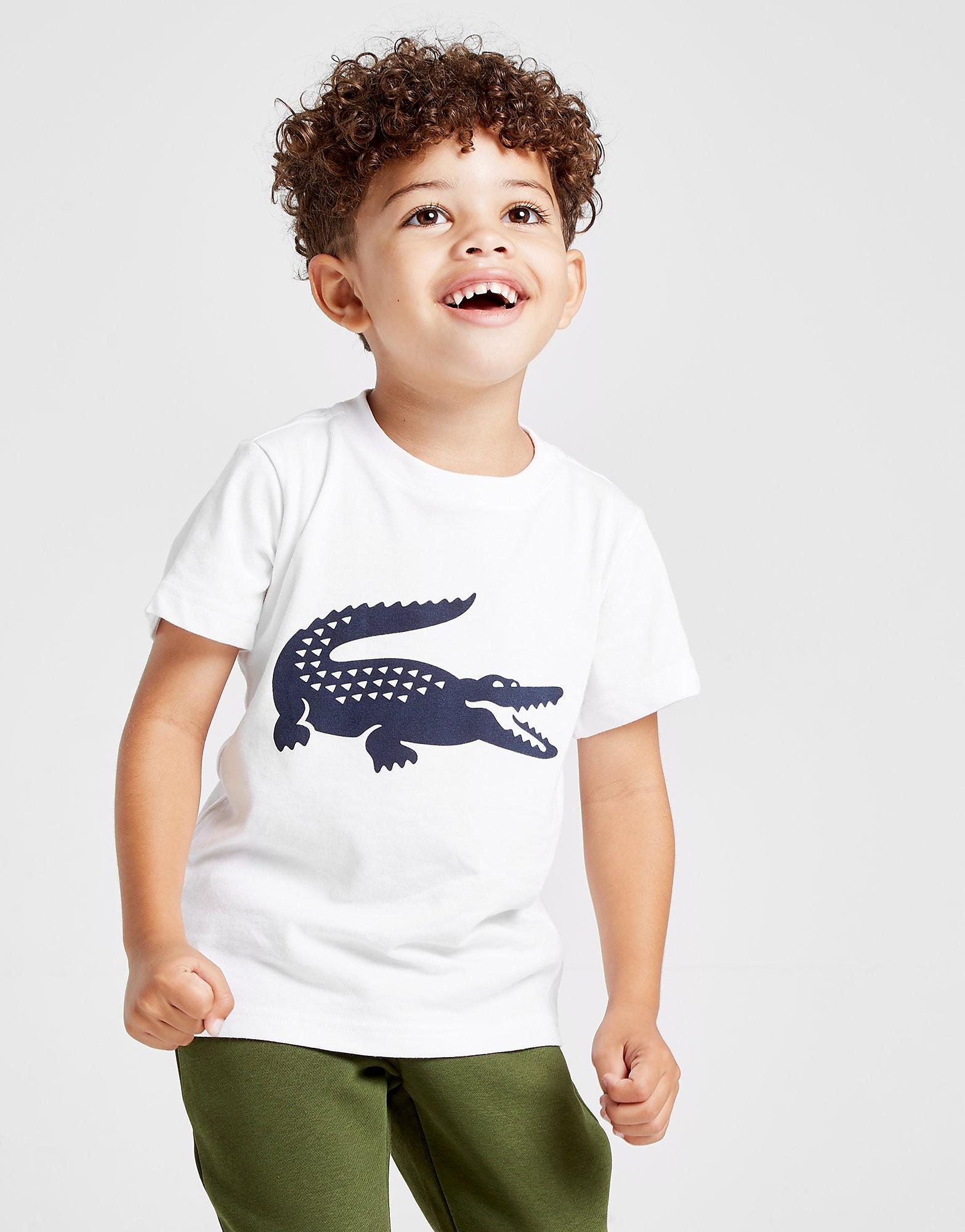 Lacoste Logo Croc T-Shirt Kinderen - Wit - Kind