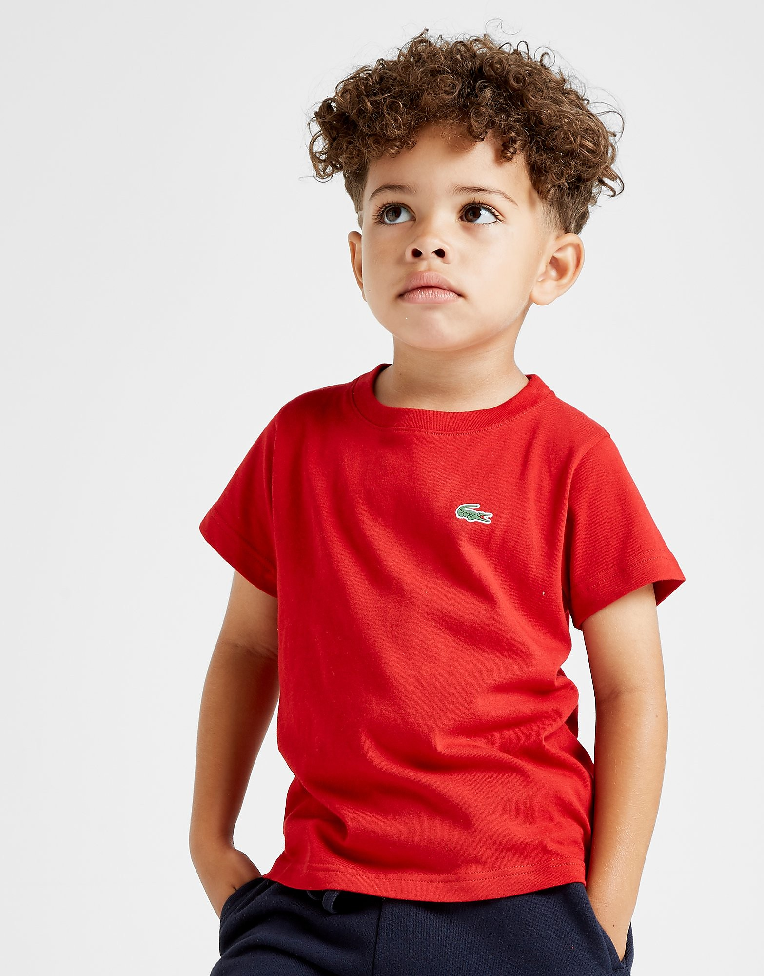Lacoste Small Logo T-Shirt Kinderen - Rood - Kind