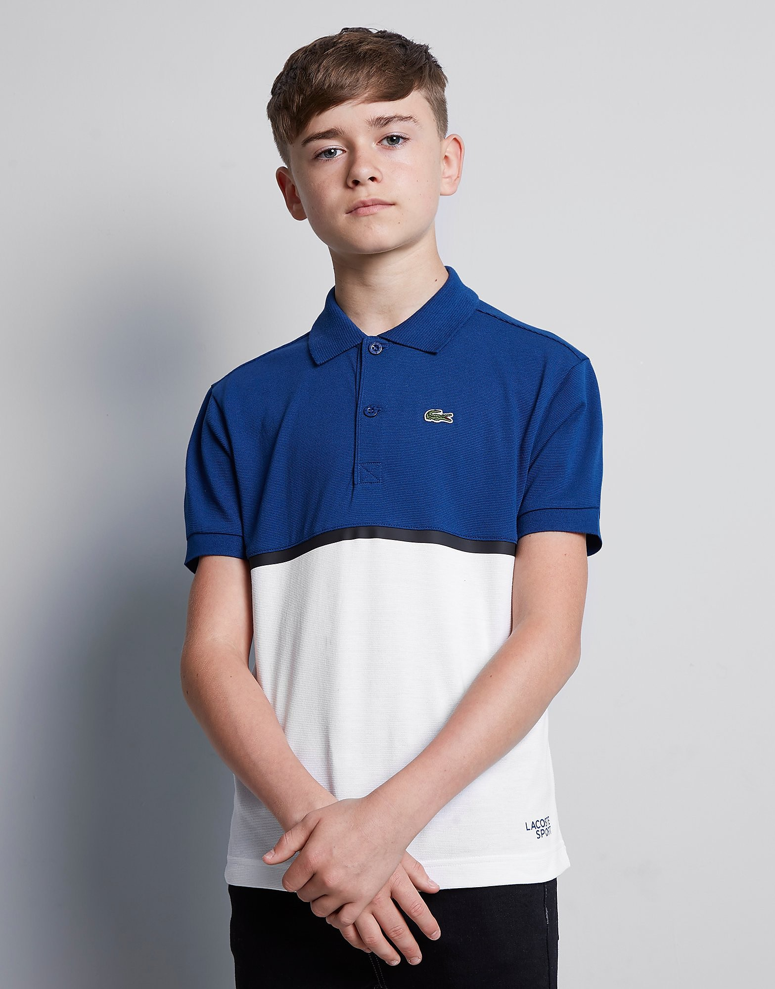 Lacoste Colour Block Polo Shirt Junior - Blauw - Kind
