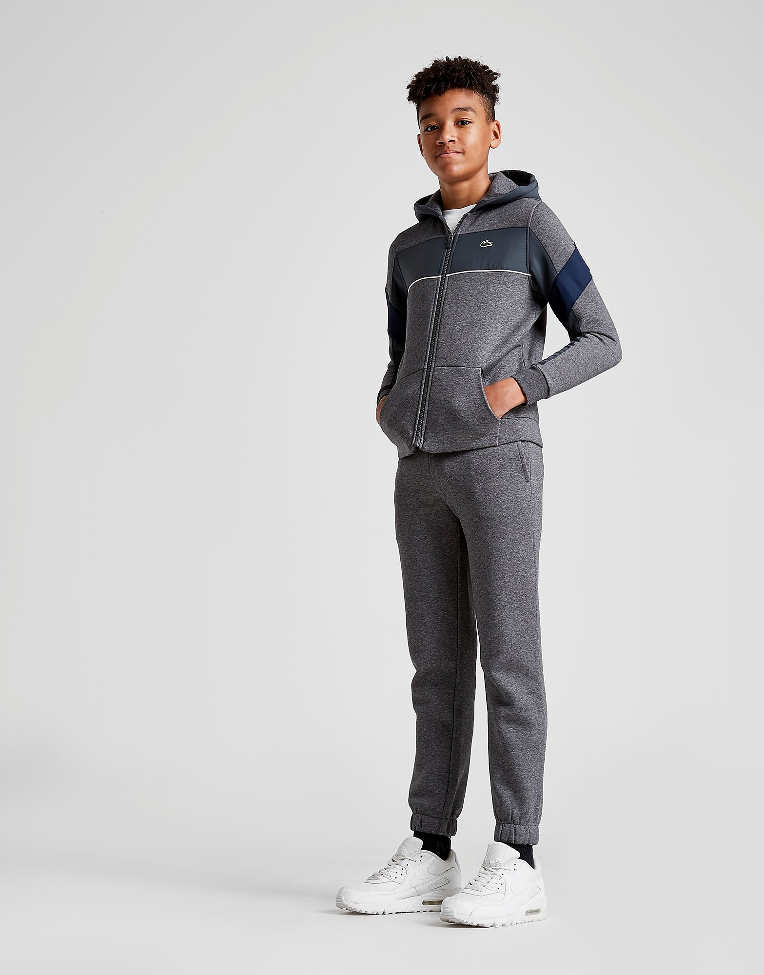 Lacoste Woven Panel Fleece Suit Junior - Grijs - Kind