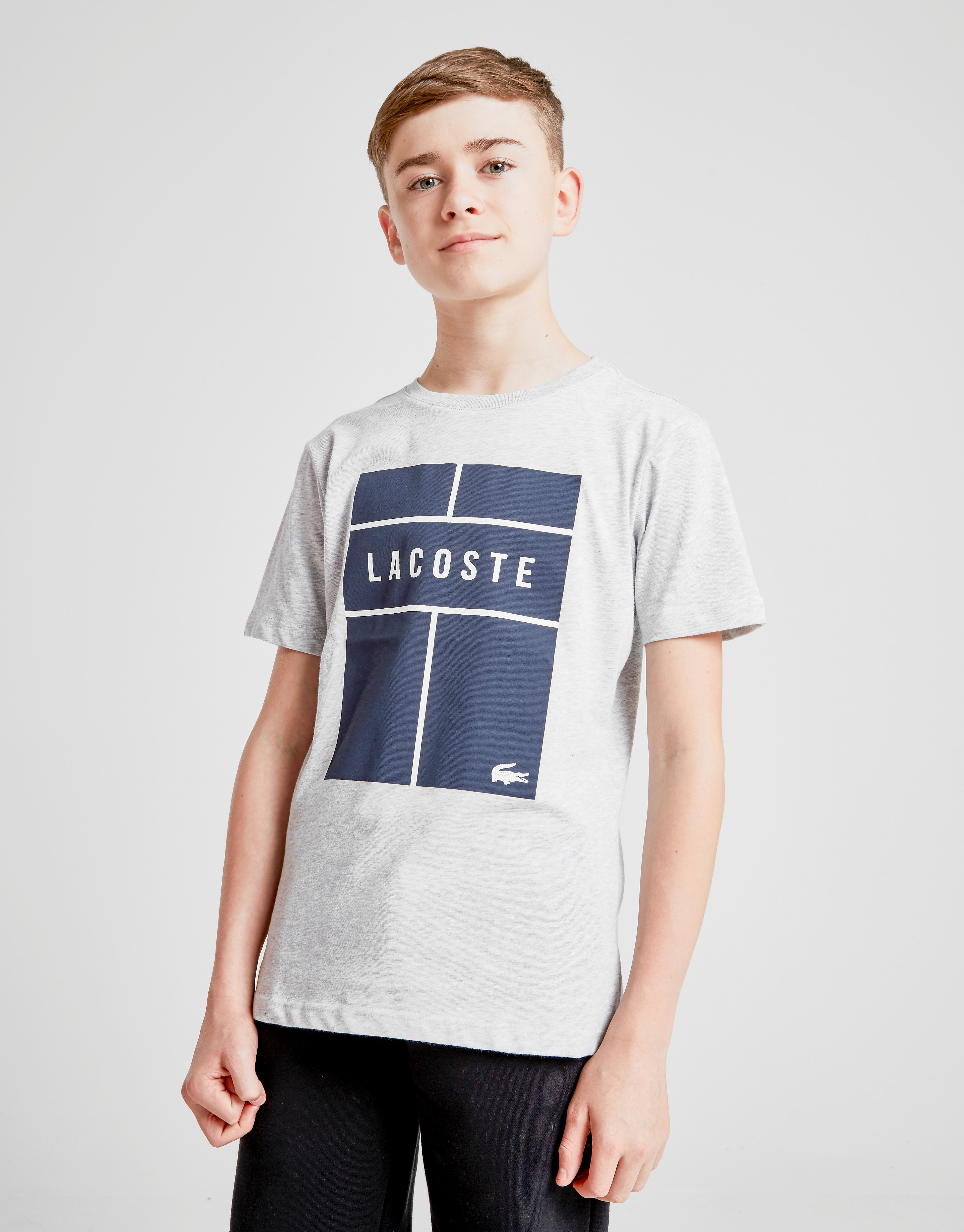 Lacoste Croc Box T-Shirt Junior - Grijs - Kind