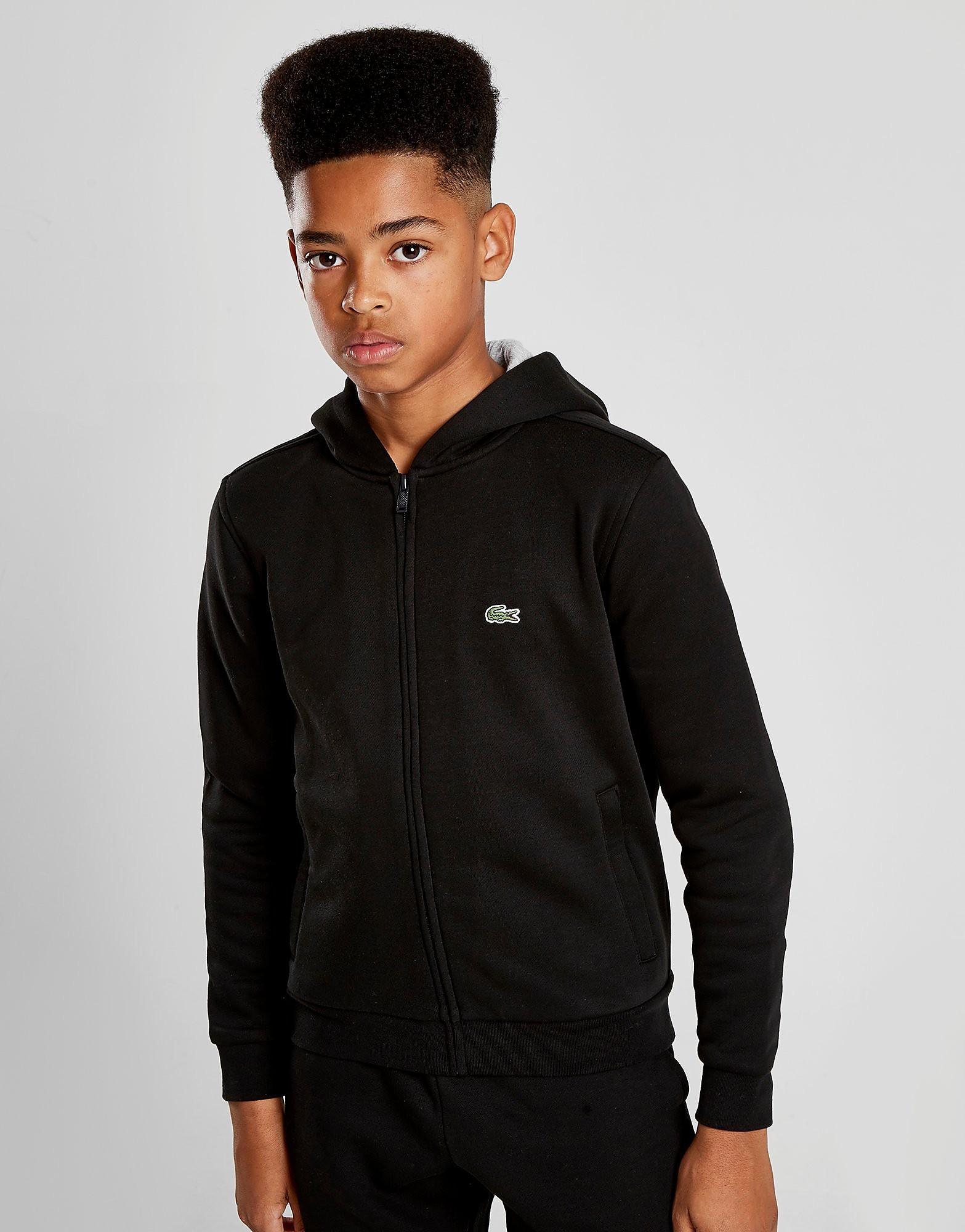 Lacoste Full Zip Hoodie Junior - Zwart - Kind