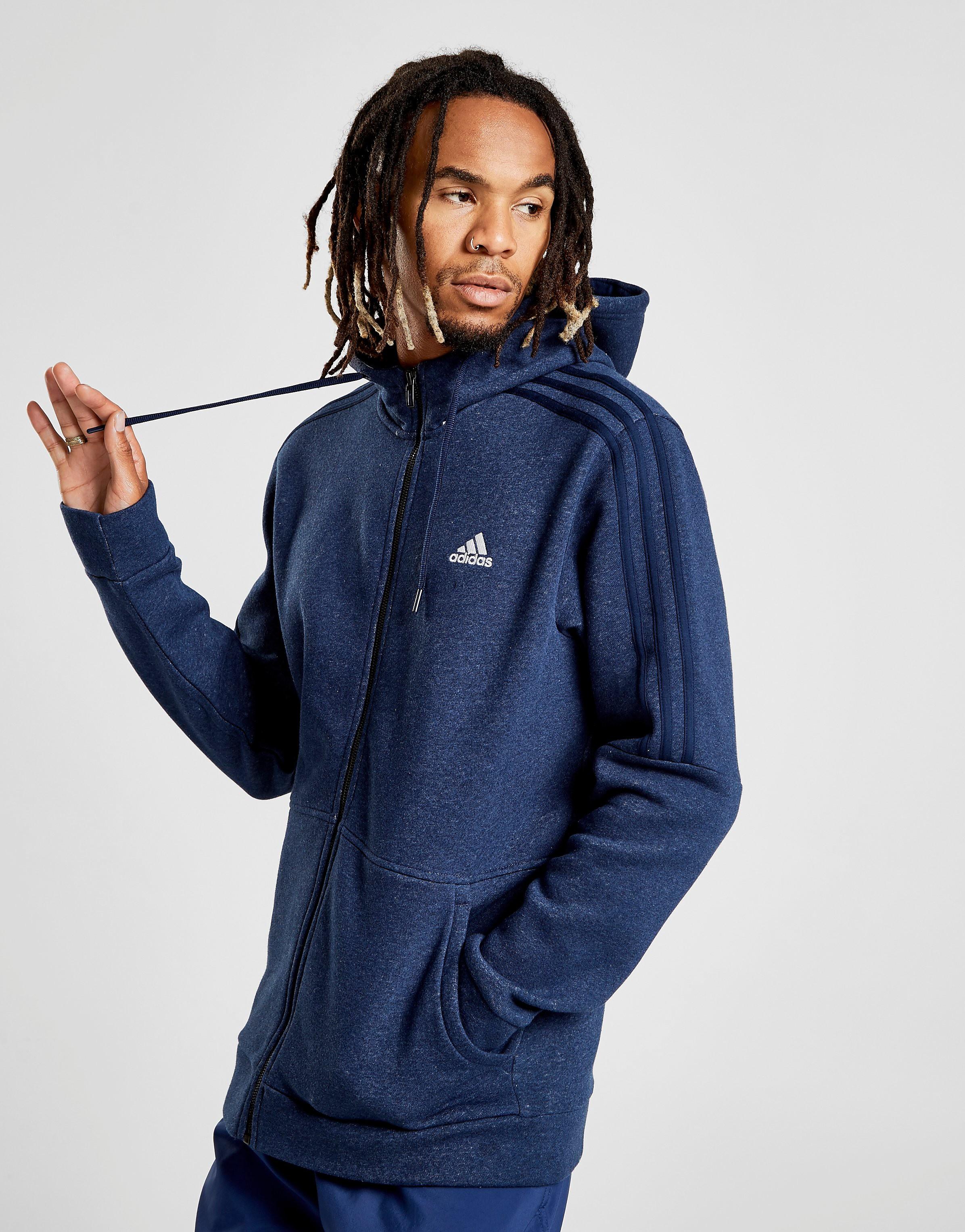 adidas Essential Full Zip Hoodie Heren - alleen bij JD - Blauw - Heren