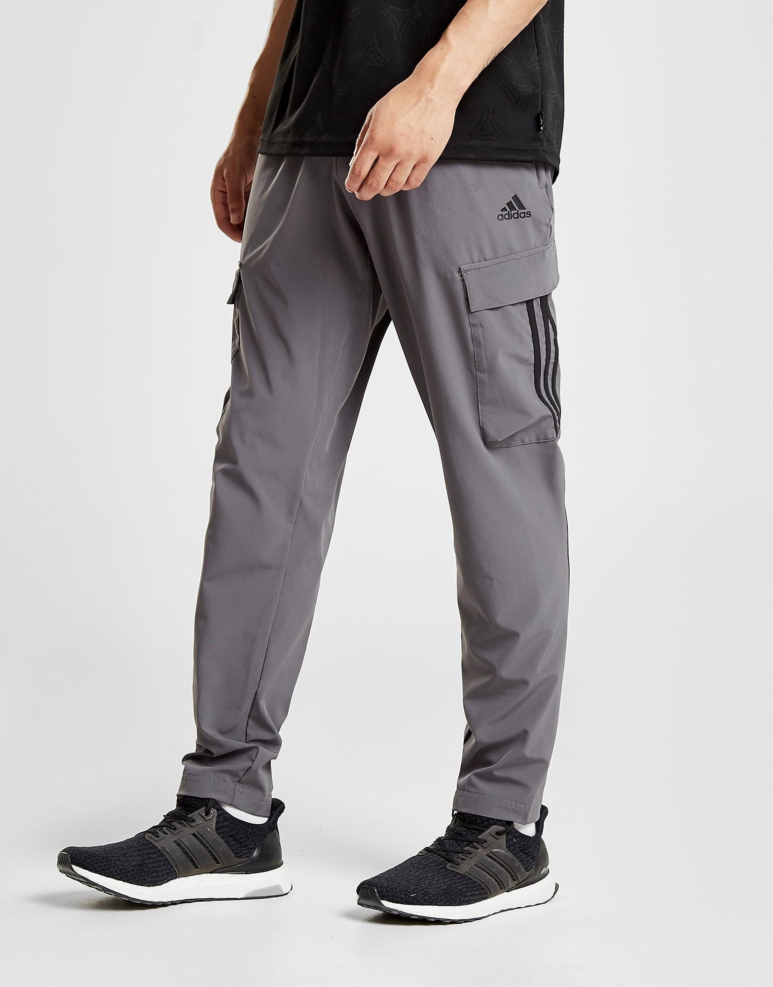 adidas 3-Stripes Cargo Pants - alleen bij JD - Grijs - Heren