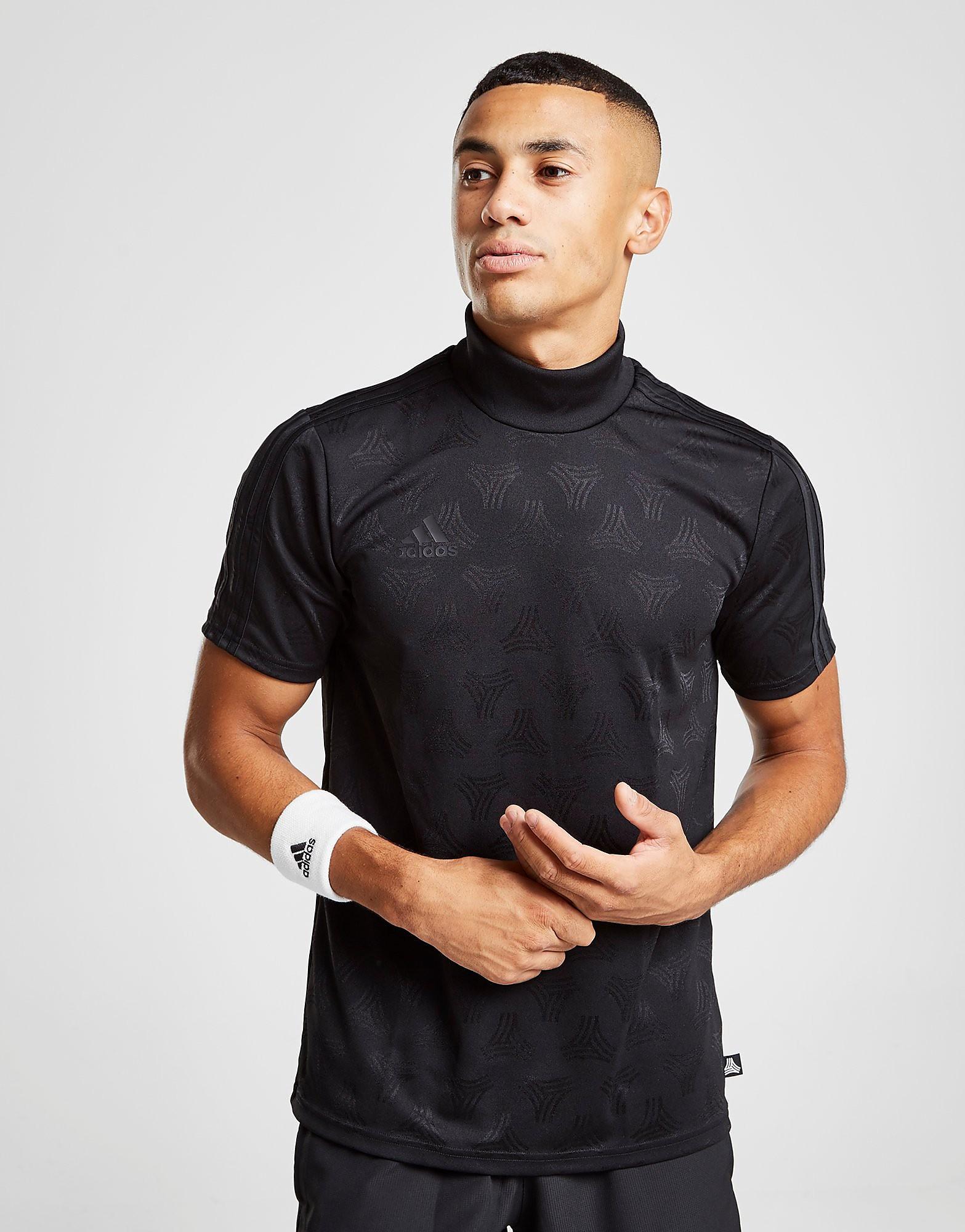 adidas Tango High Neck T-Shirt Heren - Zwart - Heren