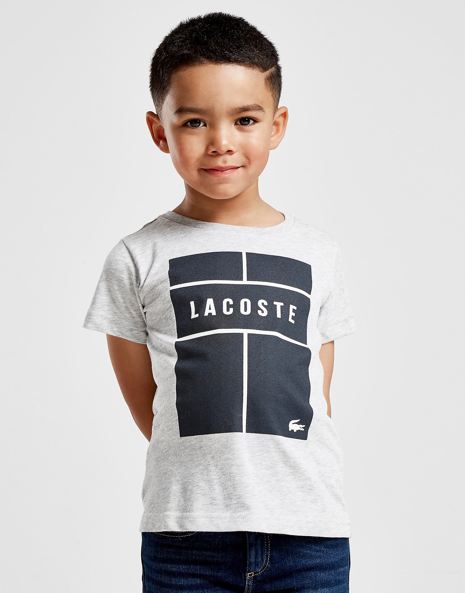 Lacoste Box Logo T-Shirt Kinderen - Grijs - Kind