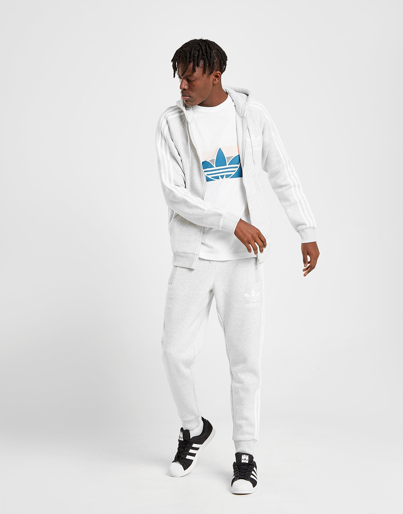 adidas Originals Pantalon de survêtement California Homme - Only at JD -  Gris 47f6133a3d2