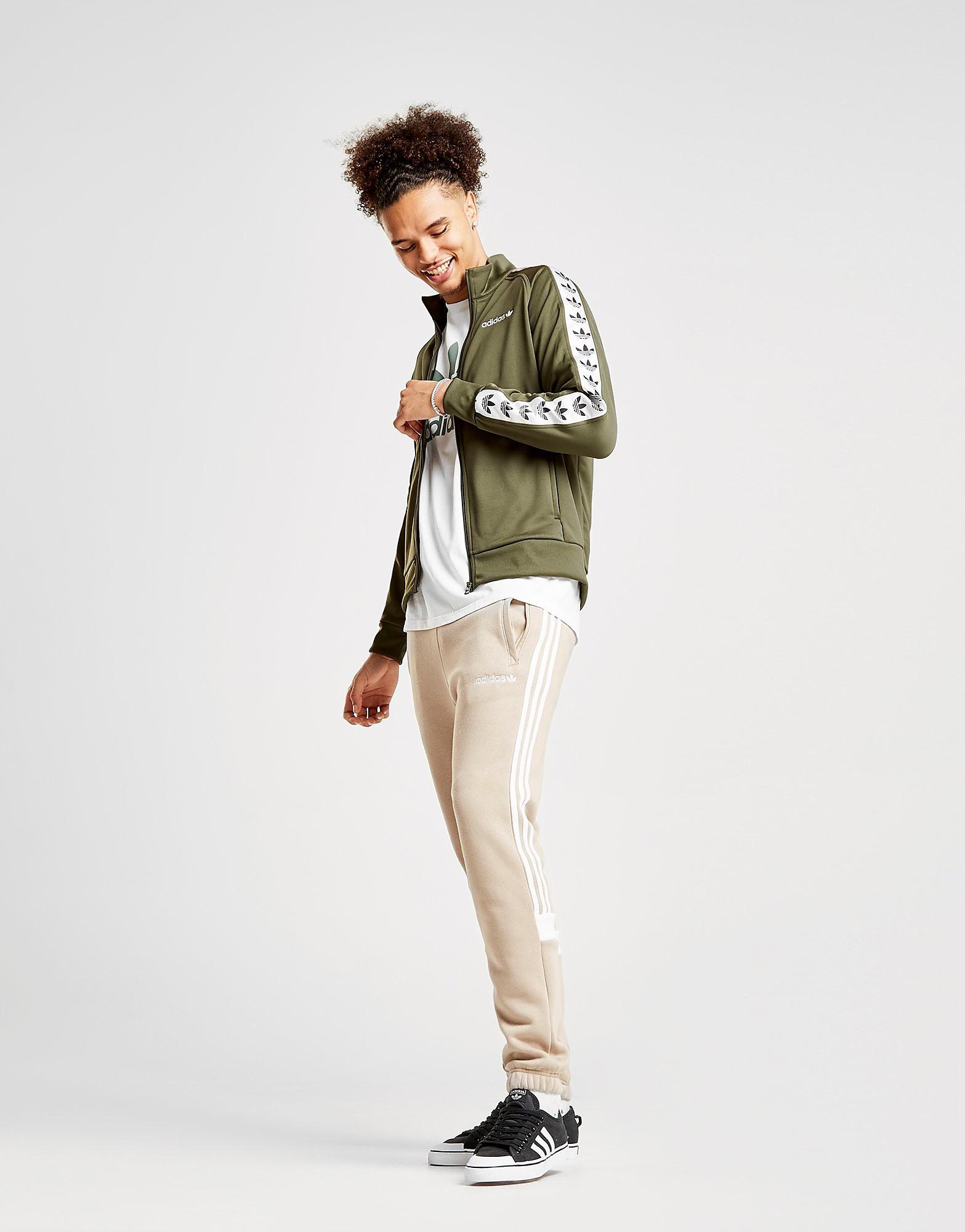adidas Originals Tape Track Top Heren - alleen bij JD - Groen - Heren