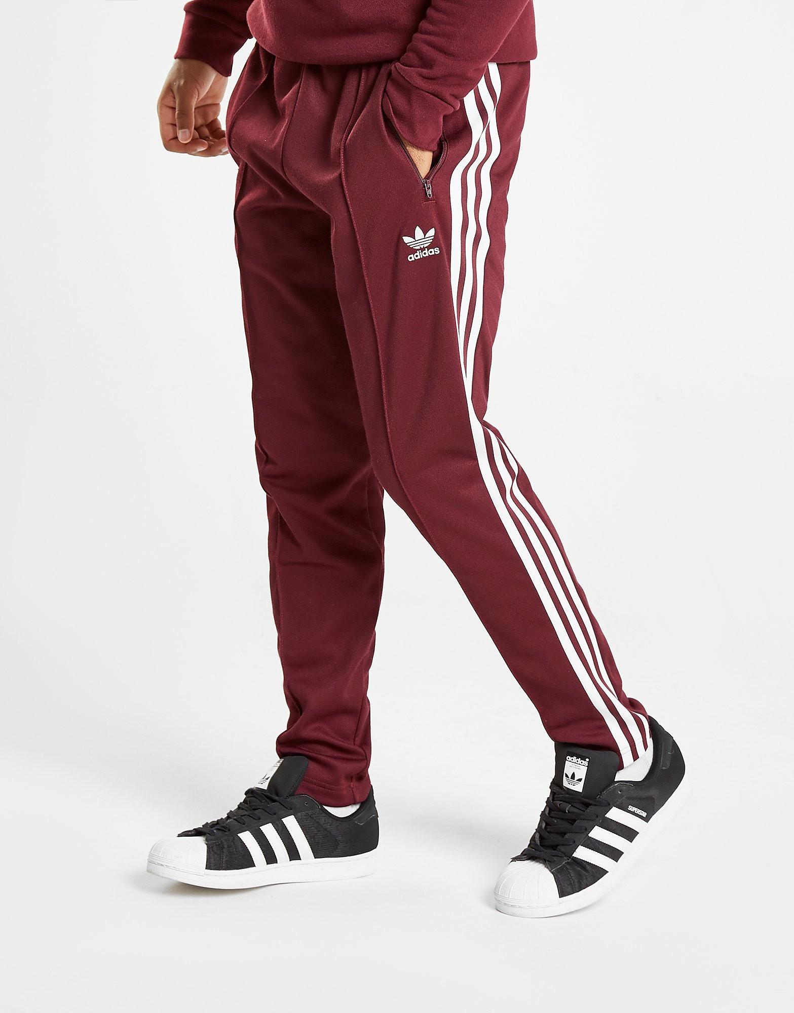 adidas Originals Beckenbauer Cuffed Track Pants Heren - Maroon/White - Heren