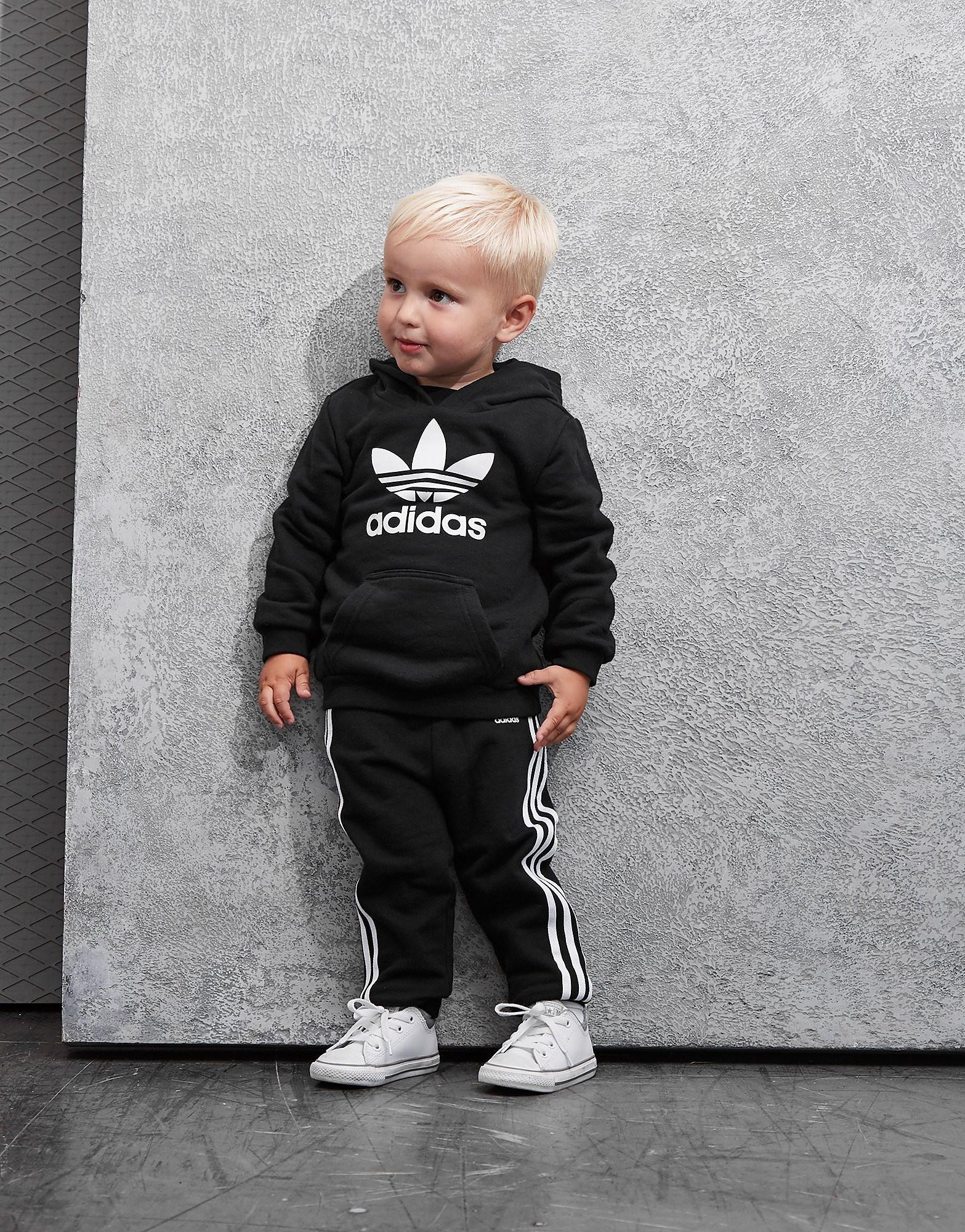 adidas Originals Trefoil Overhead Hooded Suit Infant - Schwarz - Kids, Schwarz