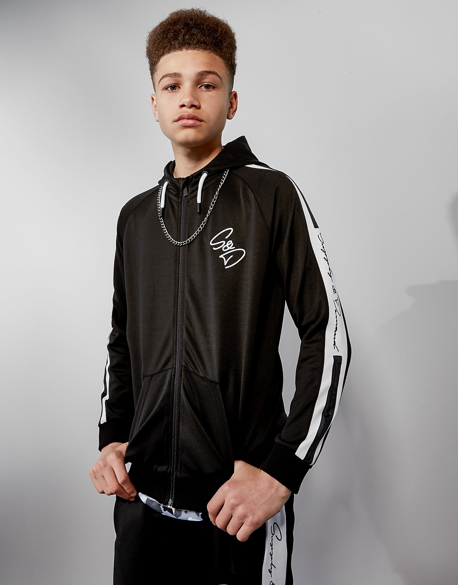Supply & Demand Scripty Zip Through Hoodie Junior