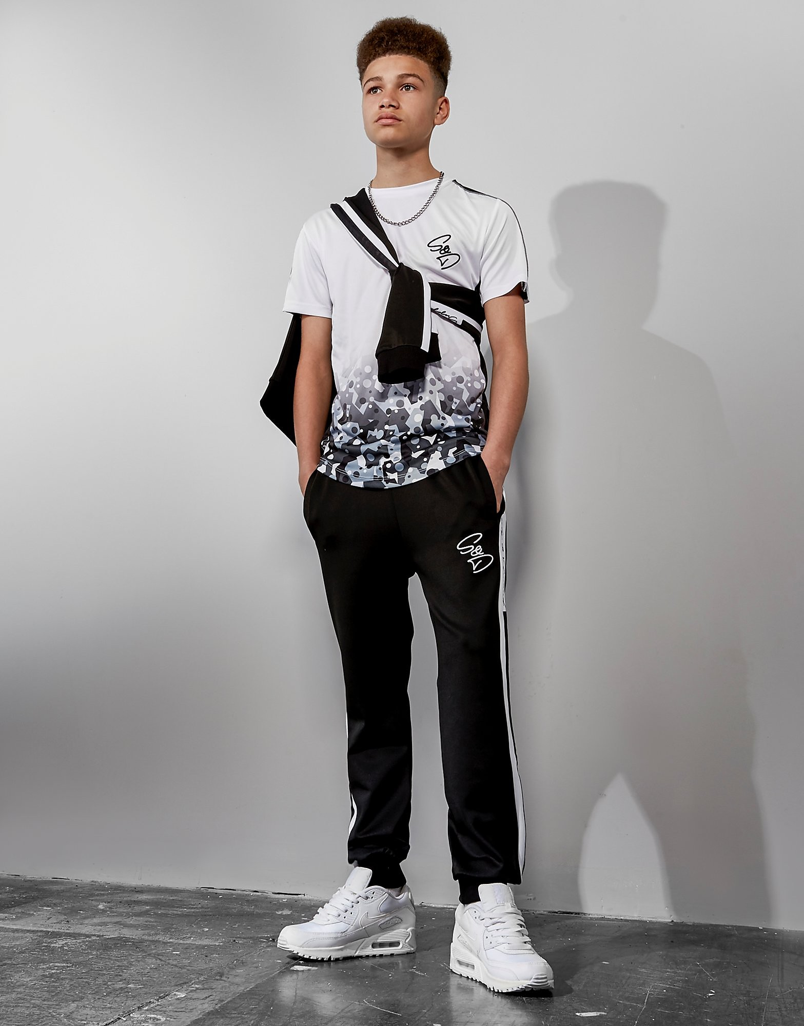 Supply & Demand Geo Camo Face T-Shirt Junior